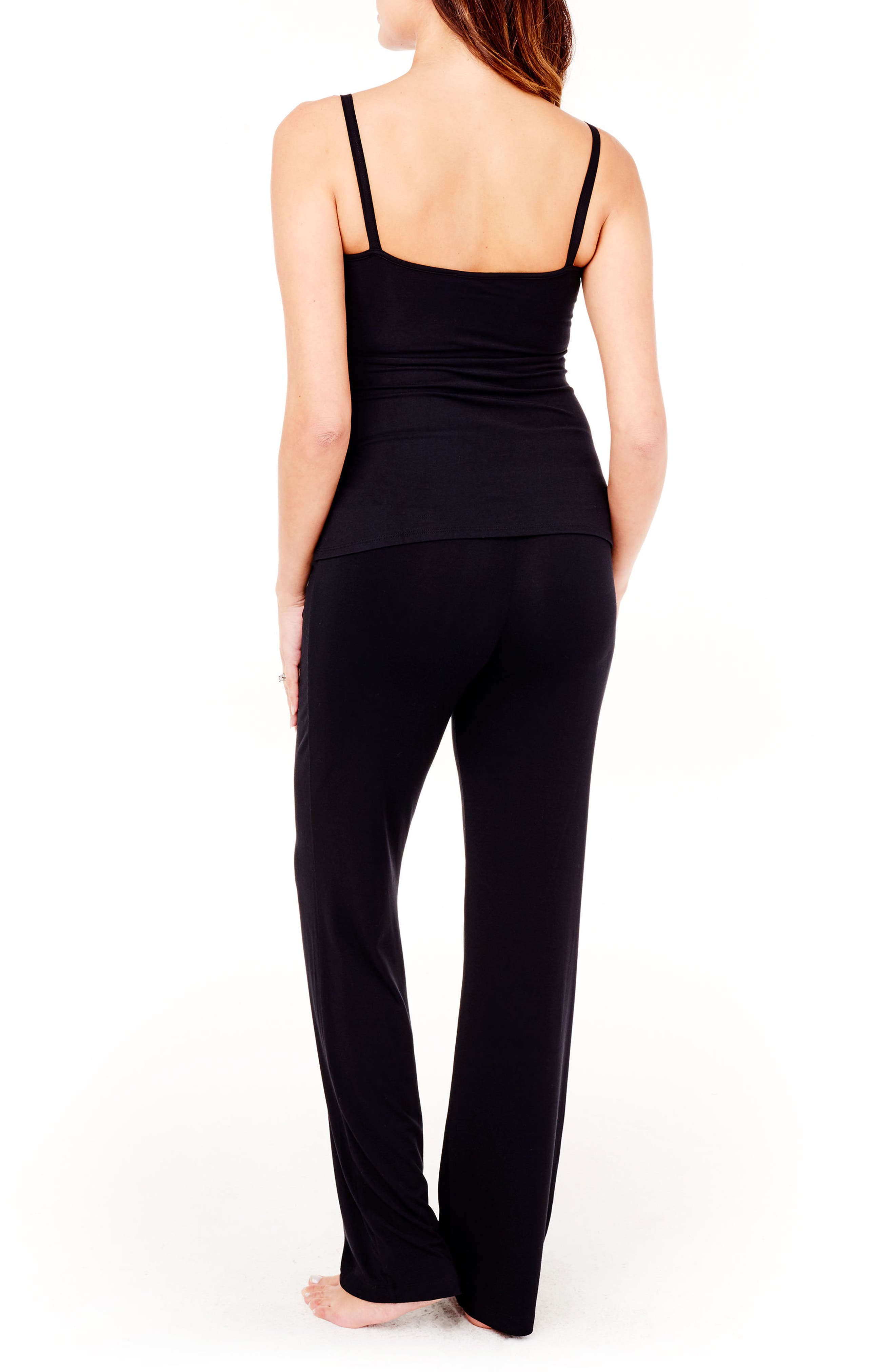 Maternity Lounge Pants,                             Alternate thumbnail 2, color,                             Jet Black