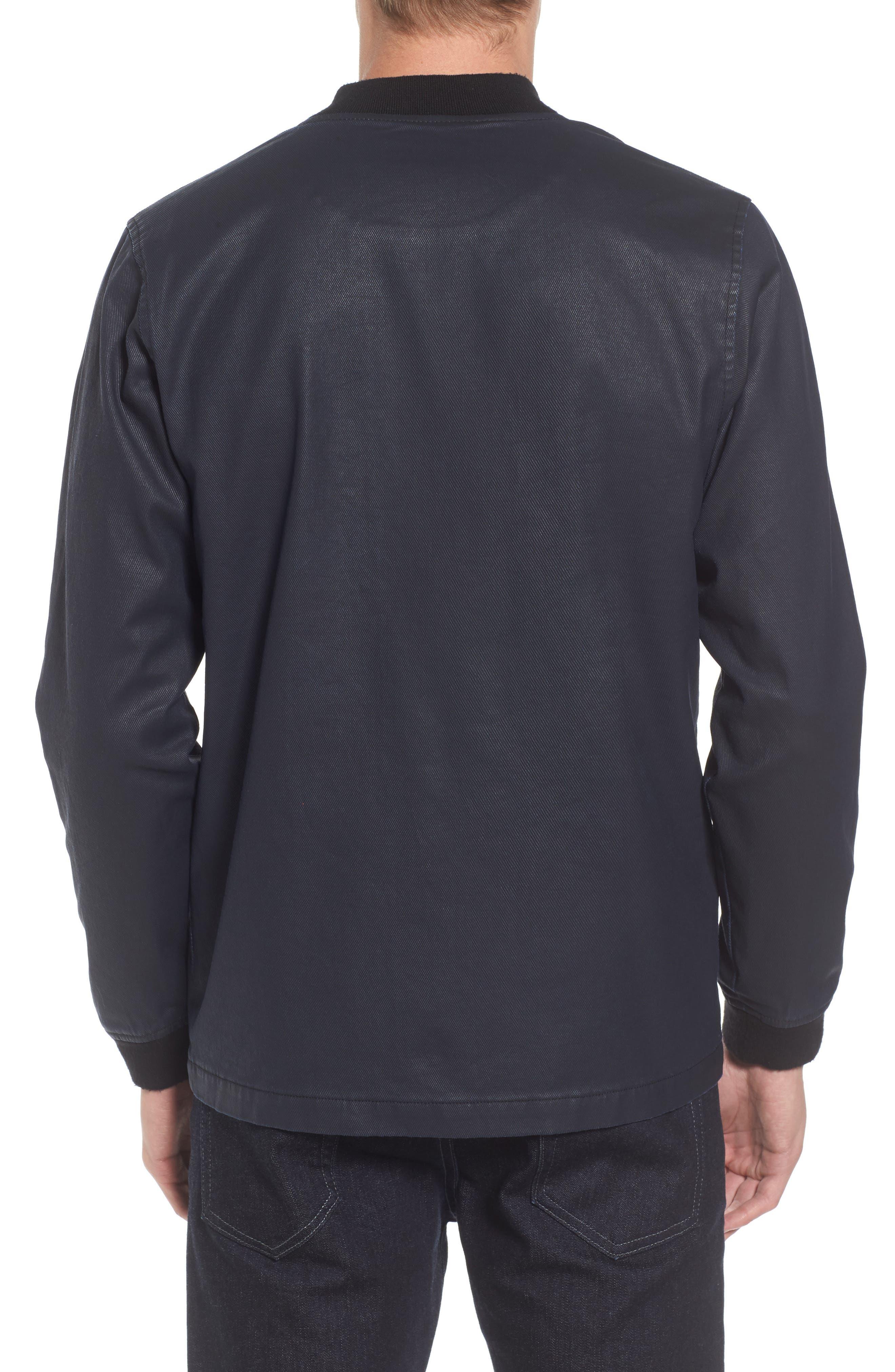 Alternate Image 2  - Tunellus Coated Zip Front Jacket