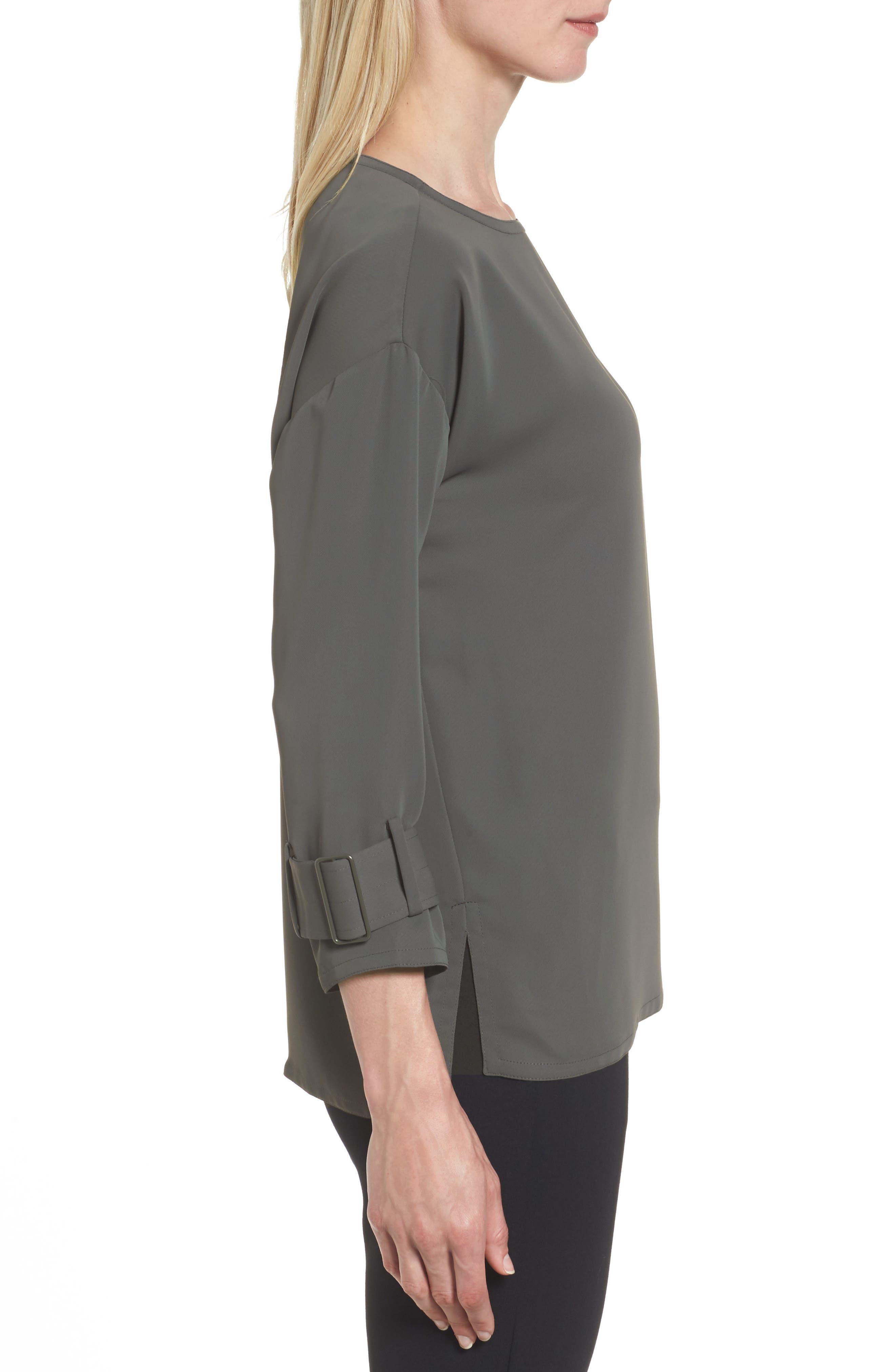 Alternate Image 3  - NIC+ZOE Buckle Sleeve Top (Regular & Petite)