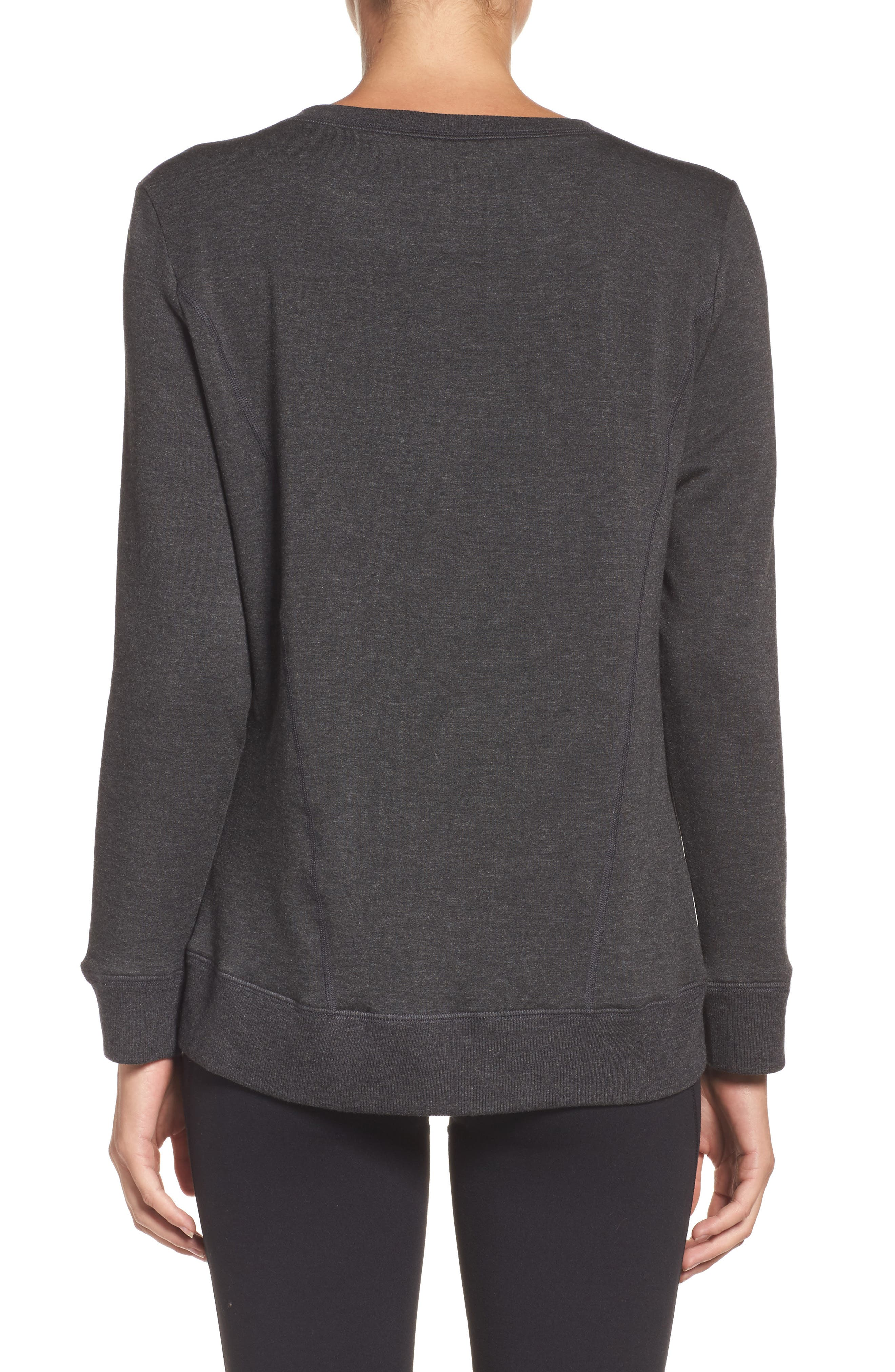 Fleece Pullover,                             Alternate thumbnail 2, color,                             Charcoal Heather Gray