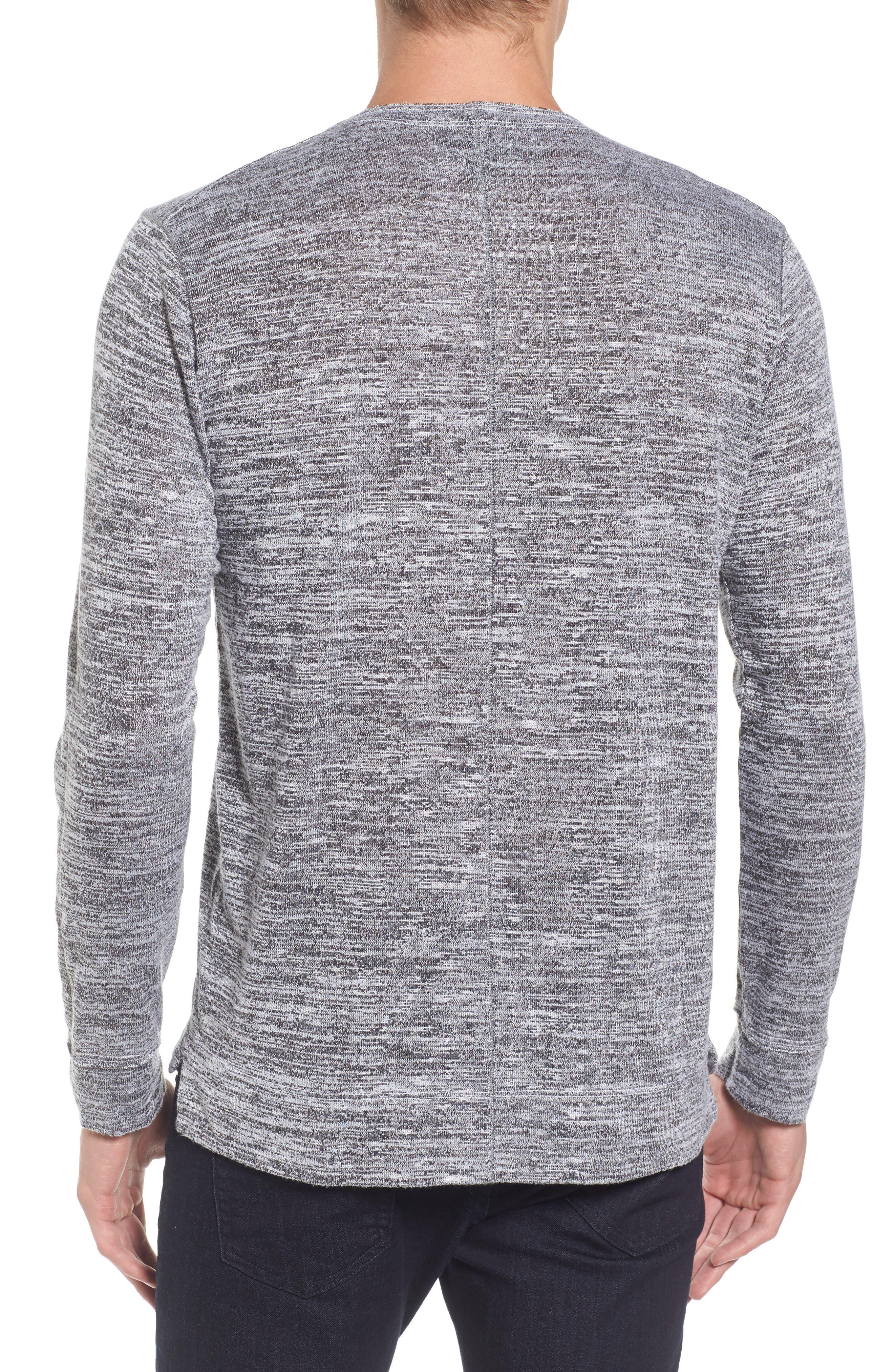 Alternate Image 2  - Velvet by Graham & Spencer Modern Trim Marled Long Sleeve T-Shirt