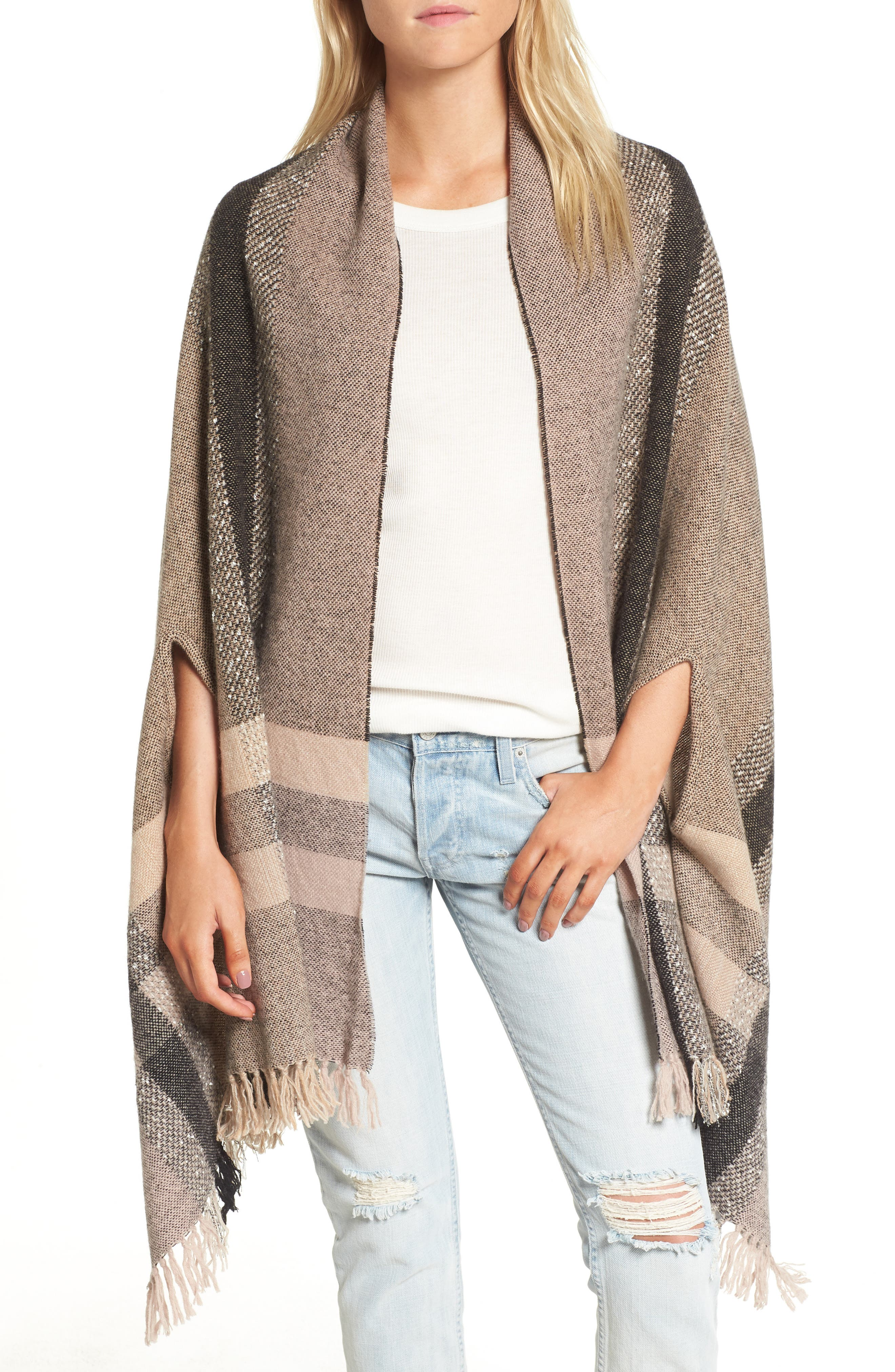 Madewell Placed Plaid Cape Scarf
