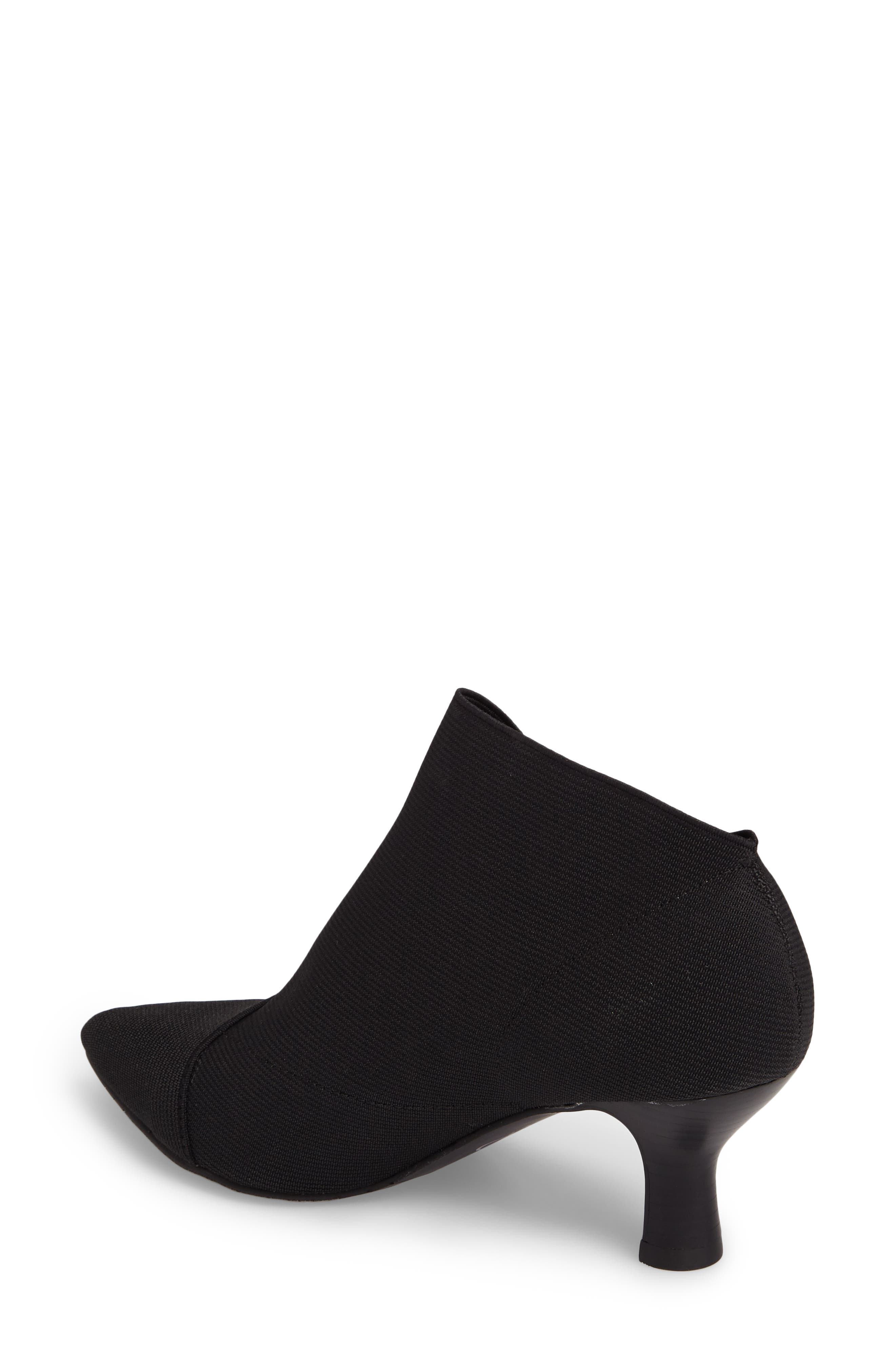 Hayes Pointy Toe Bootie,                             Alternate thumbnail 2, color,                             Black Fabric