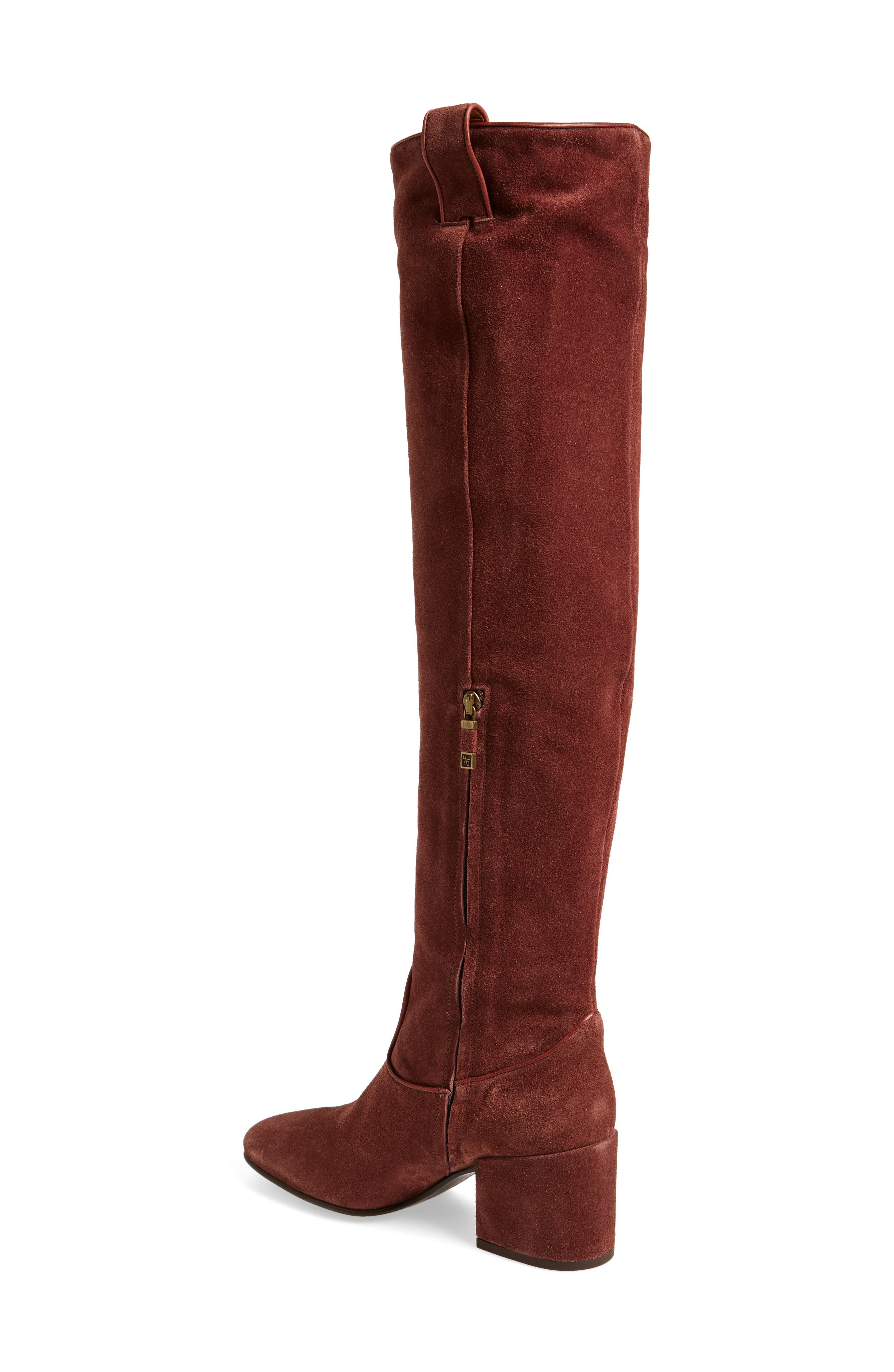 Delia Over the Knee Boot,                             Alternate thumbnail 2, color,                             Mogano