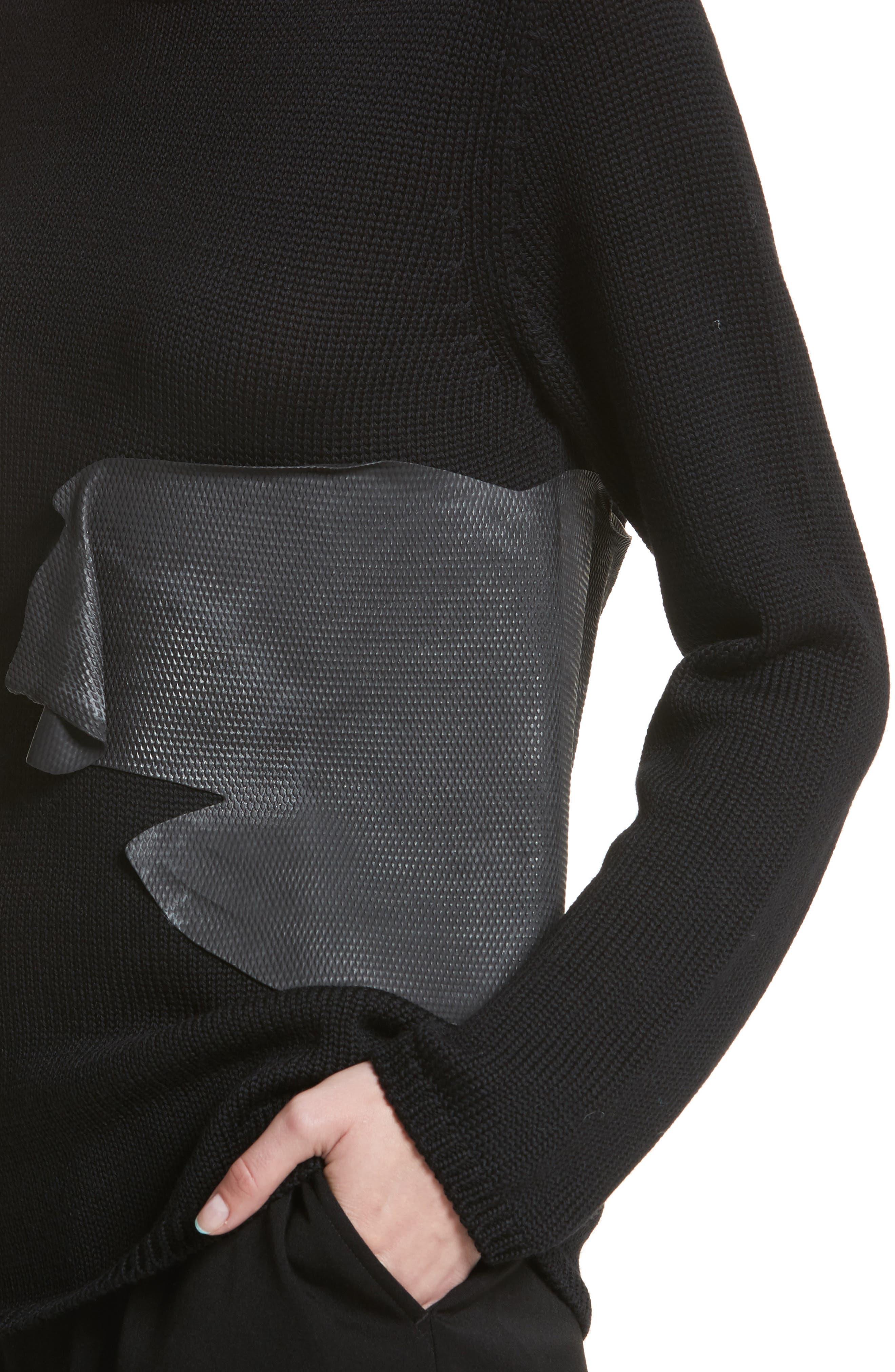 Alternate Image 4  - Comme des Garçons Rubber Detail Wool Sweater