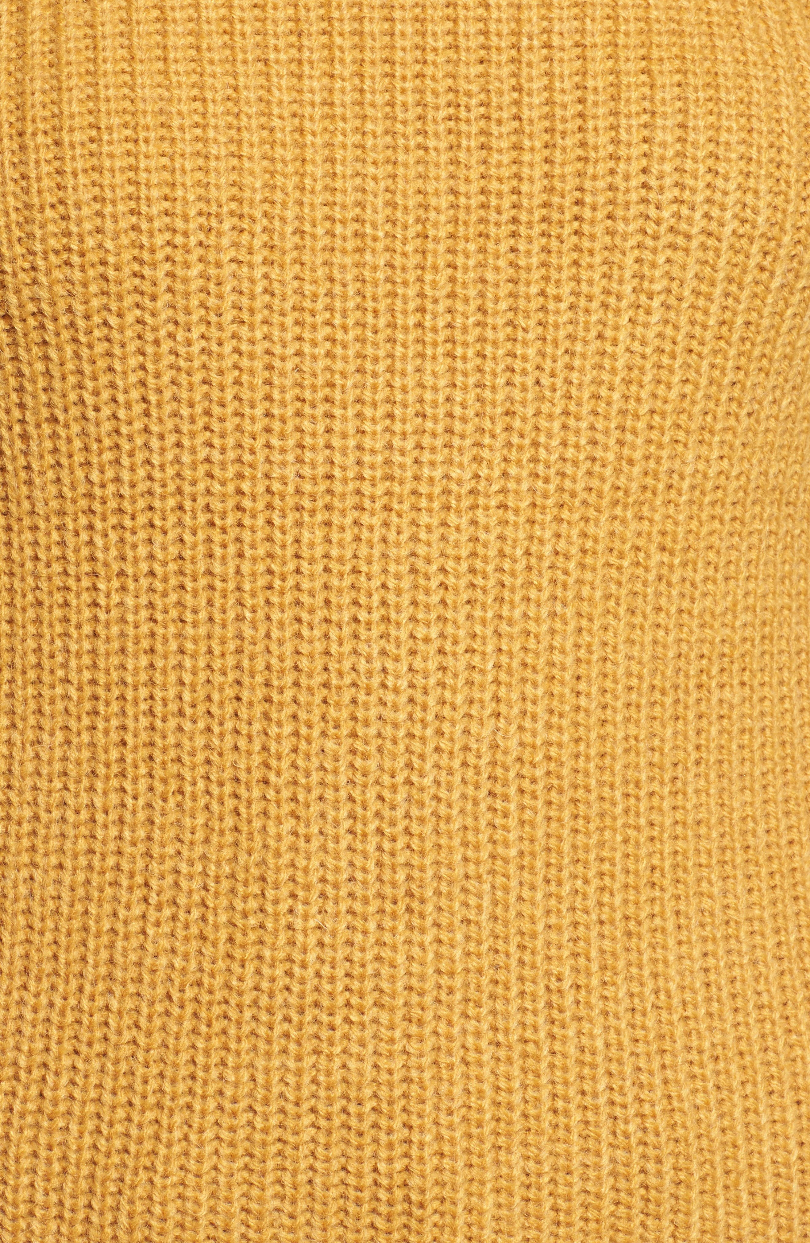 Twist Sleeve Sweater,                             Alternate thumbnail 5, color,                             Yellow Spruce