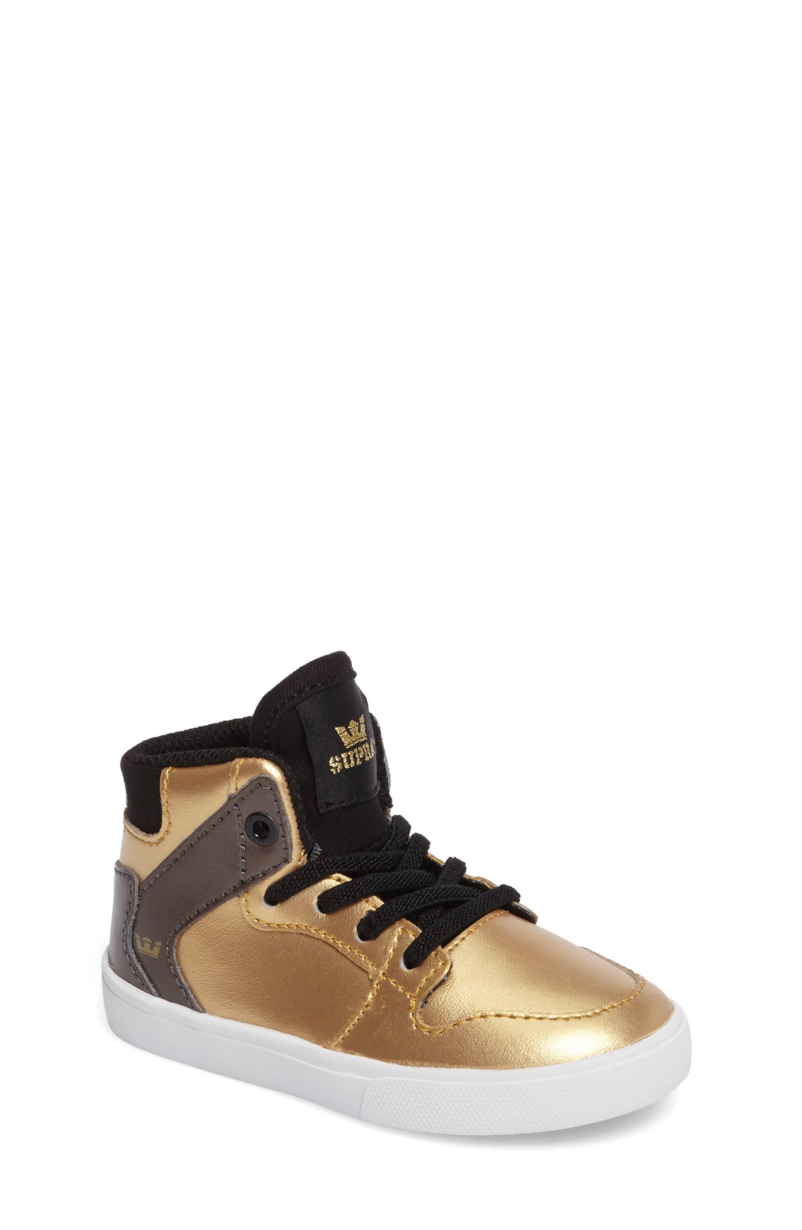 Vaider High Top Sneaker,                             Main thumbnail 1, color,                             Gold