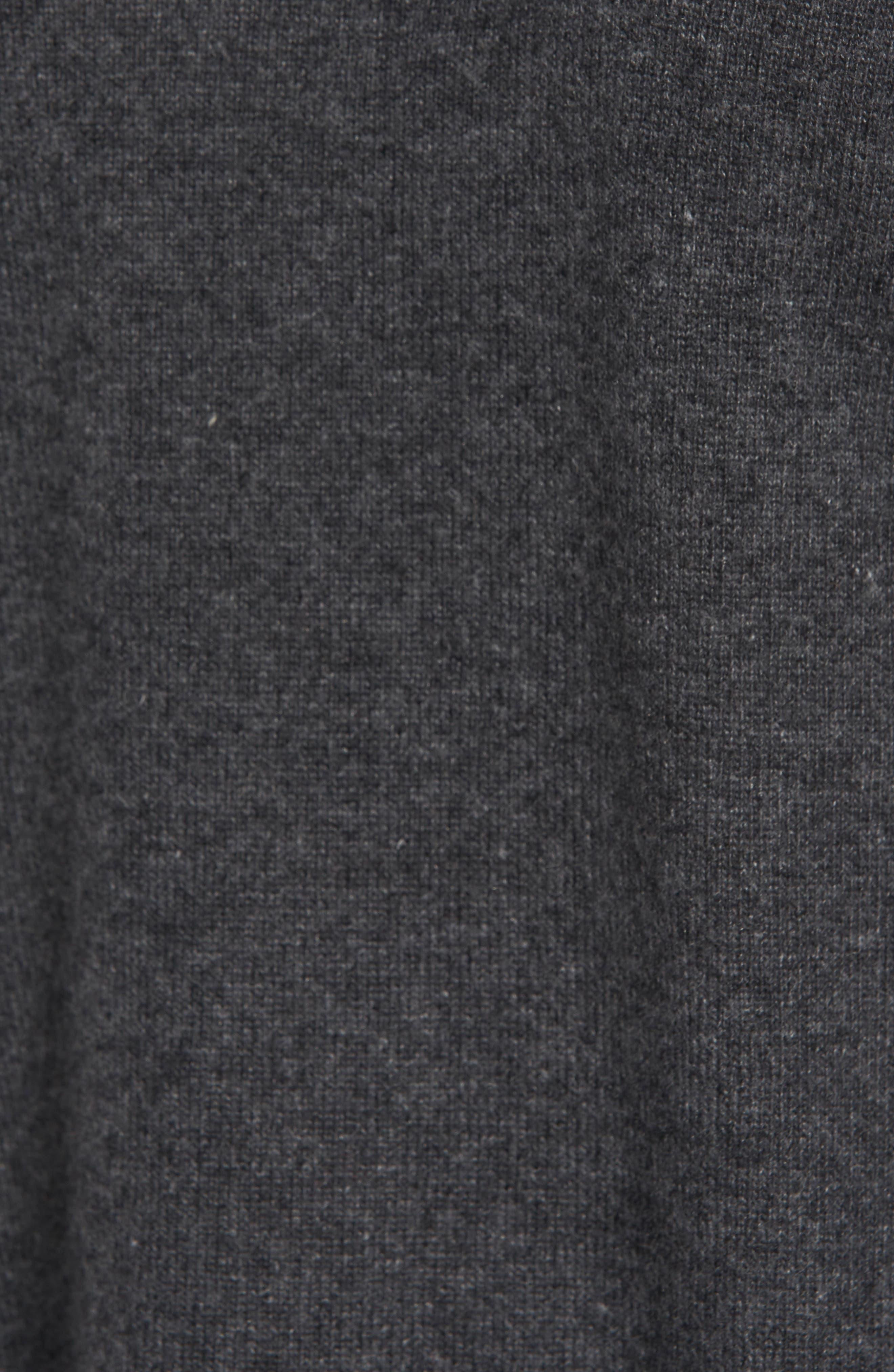 Dream Side Tie Sweater,                             Alternate thumbnail 5, color,                             Heather Grey