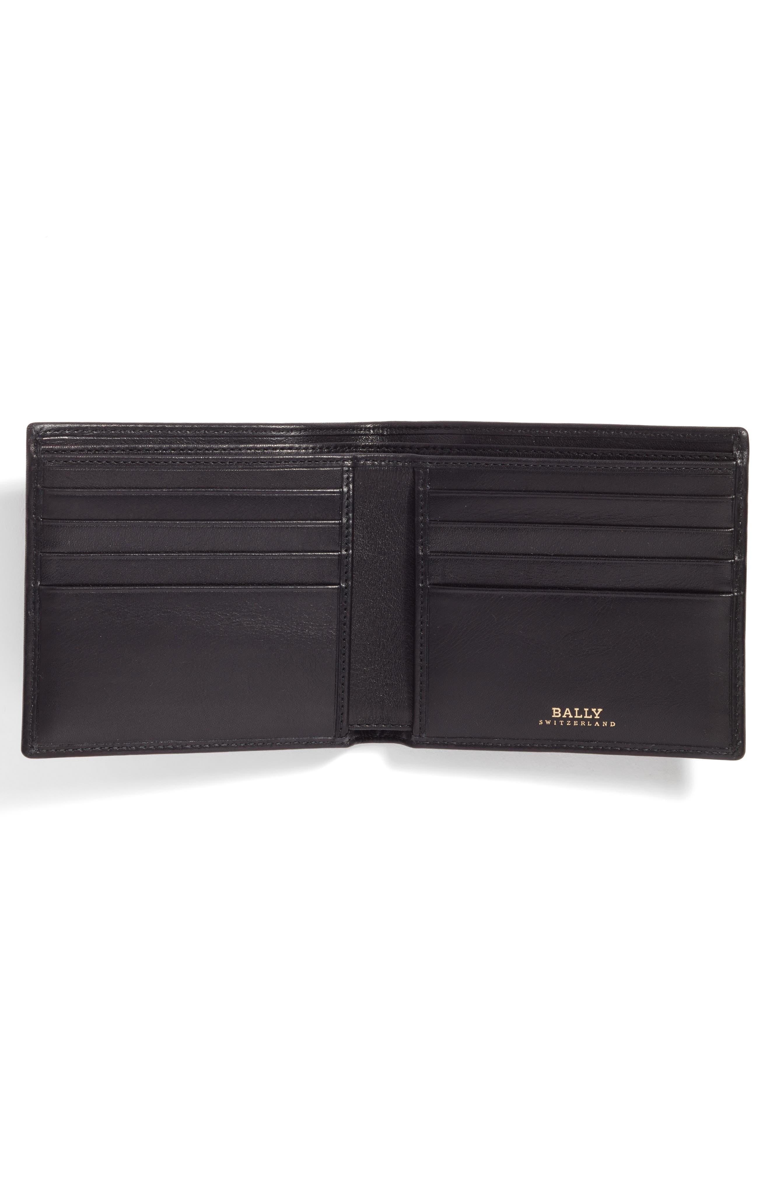 Leather Wallet and Belt Gift Set,                             Alternate thumbnail 2, color,                             Black