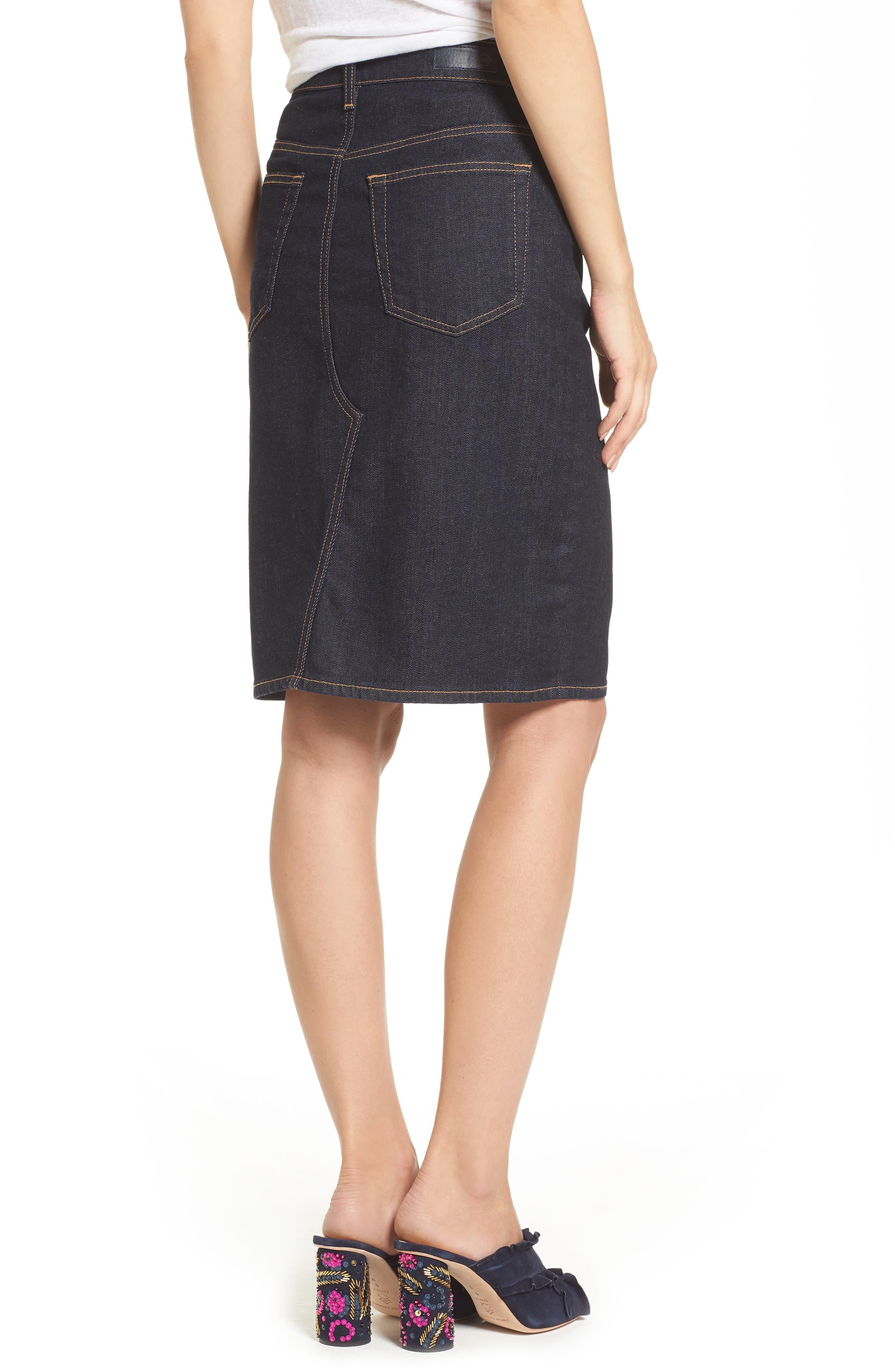 Alternate Image 2  - AG Emery High Waist Denim Skirt