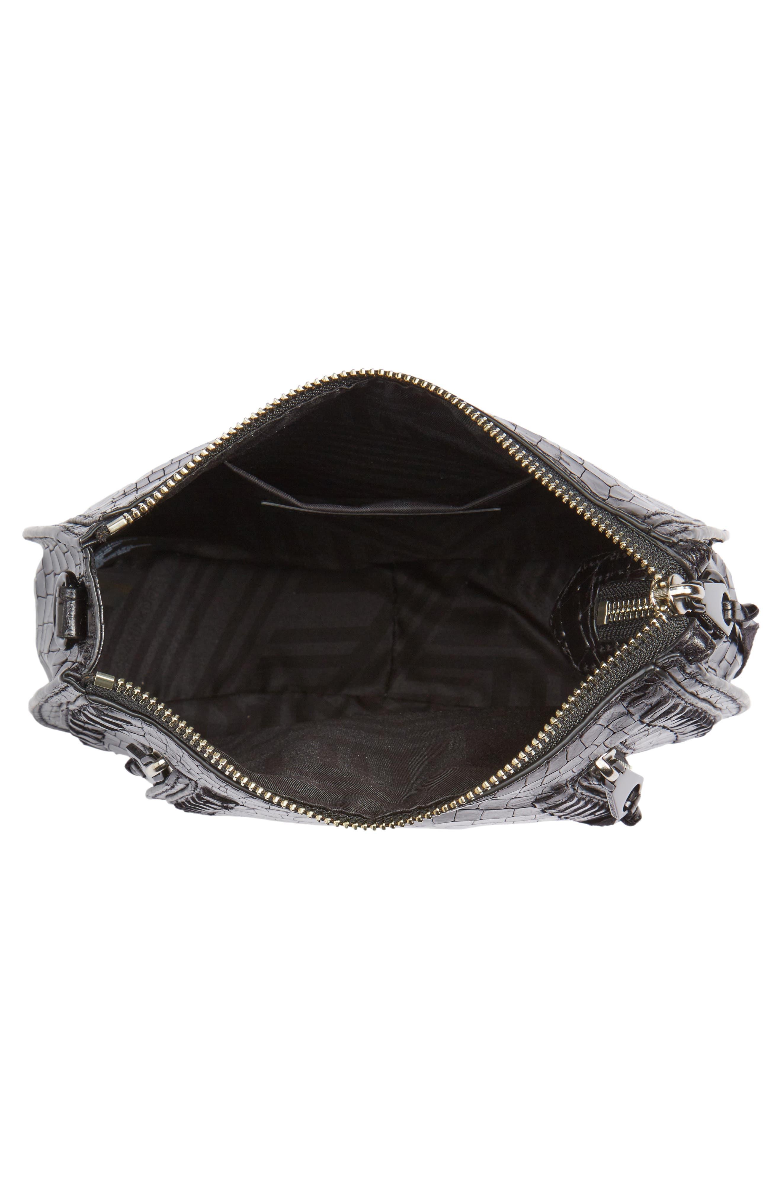 Alternate Image 3  - Rebecca Minkoff Vanity Croc-Embossed Leather Saddle Bag
