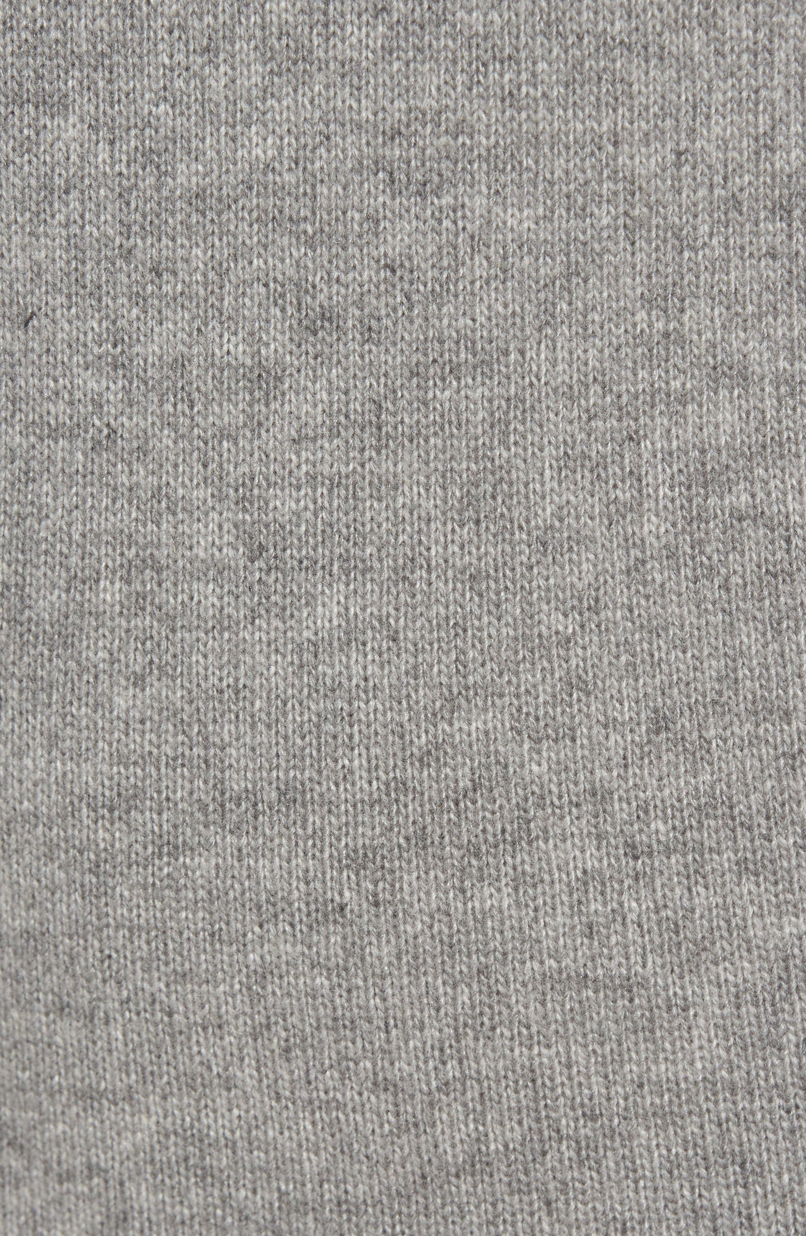 Destroyed Turtleneck Sweater Dress,                             Alternate thumbnail 5, color,                             Heather Grey