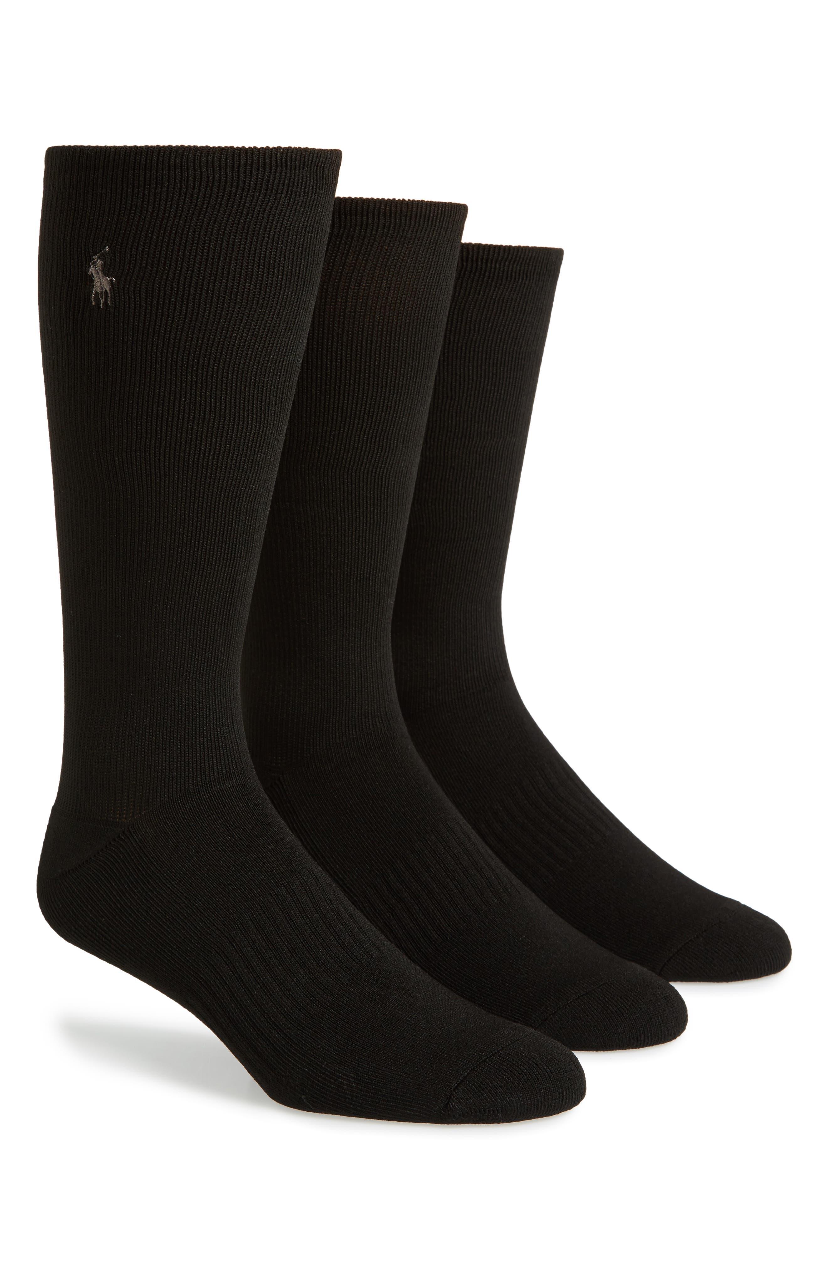 Alternate Image 1 Selected - Polo Ralph Lauren 3-Pack Compression Socks