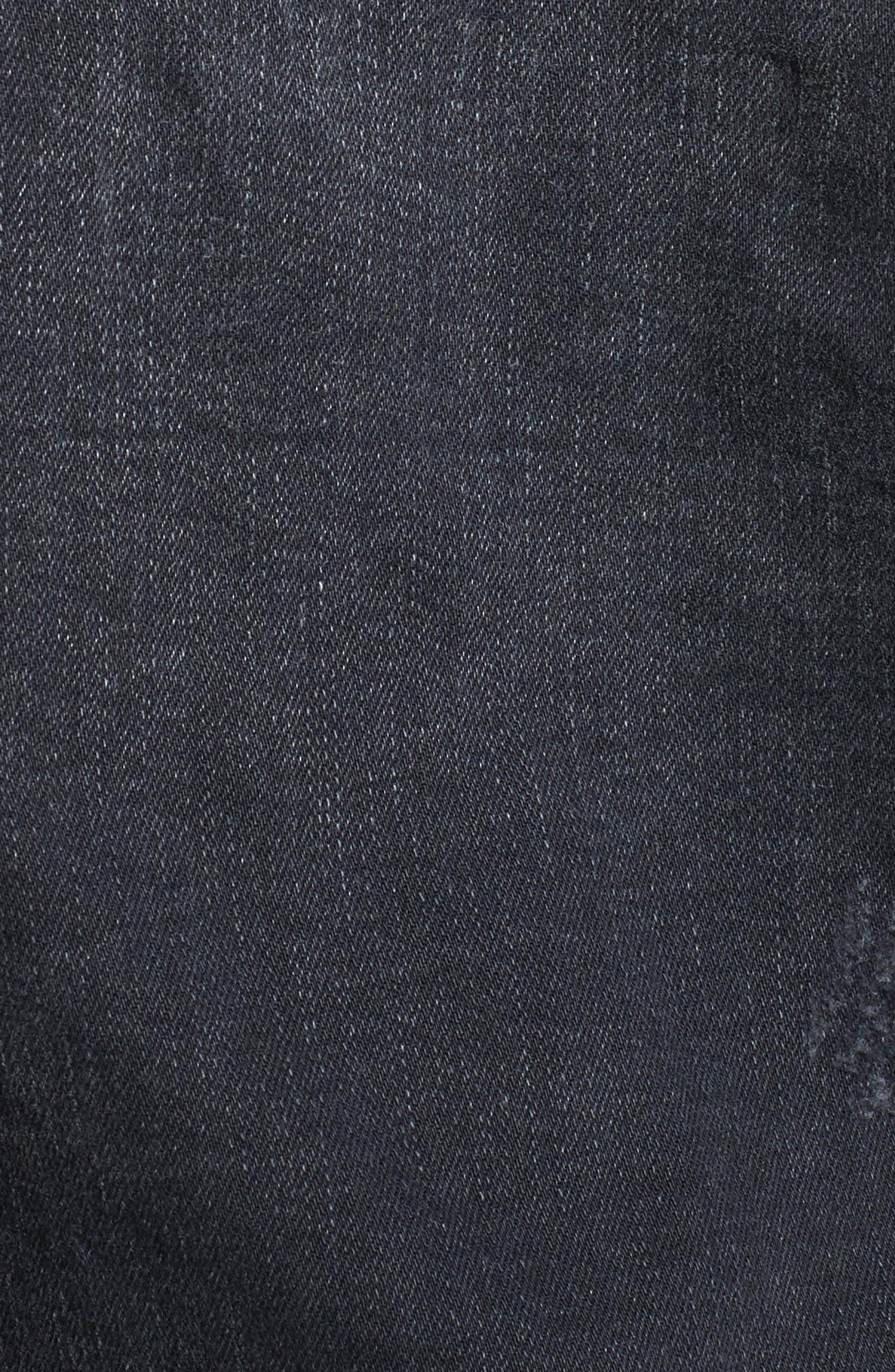 True Religion Danni Destroyed Denim Jacket,                             Alternate thumbnail 5, color,                             Backstage Destroy