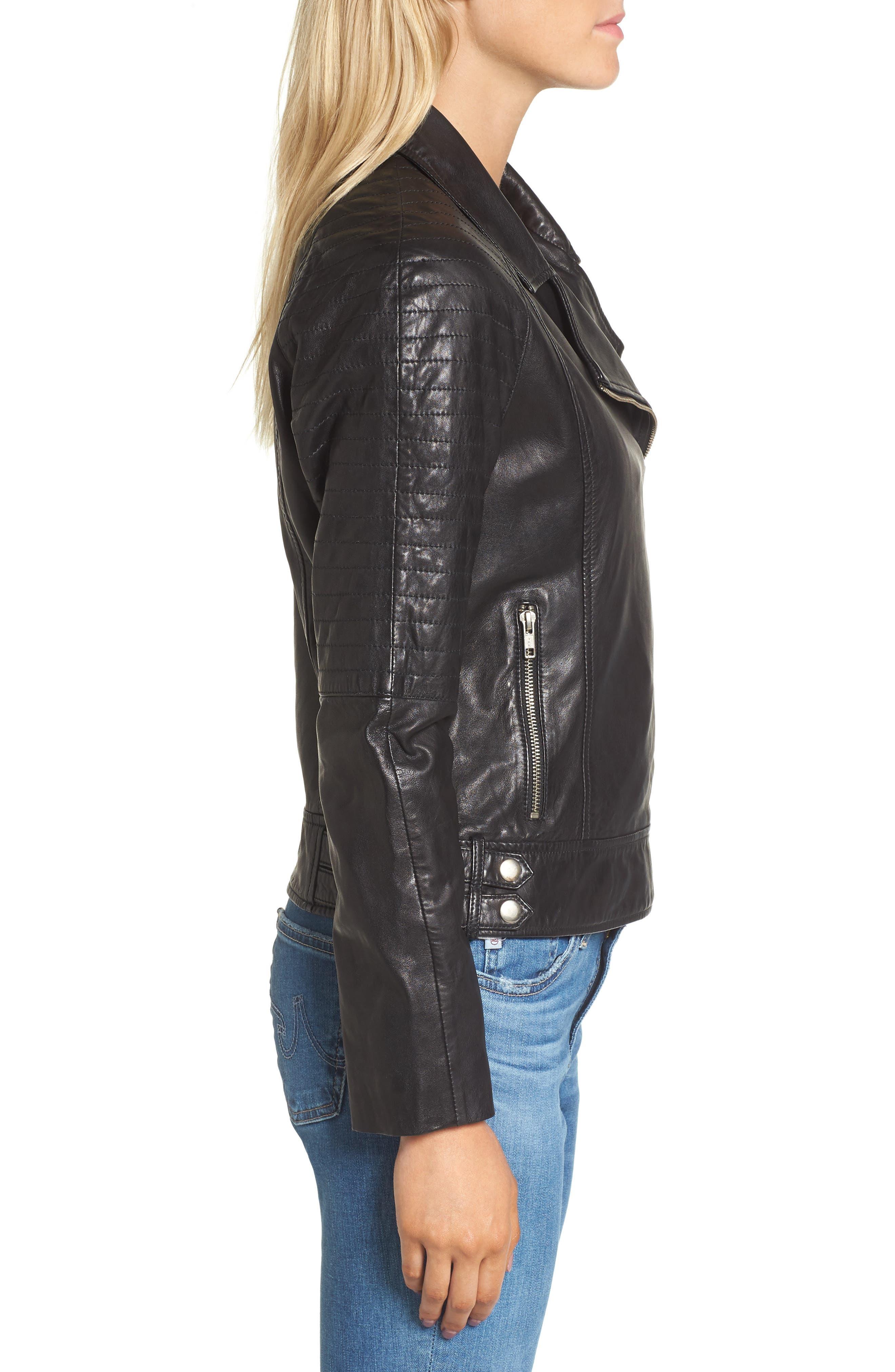 Alternate Image 3  - BB Dakota Harwick Leather Moto Jacket
