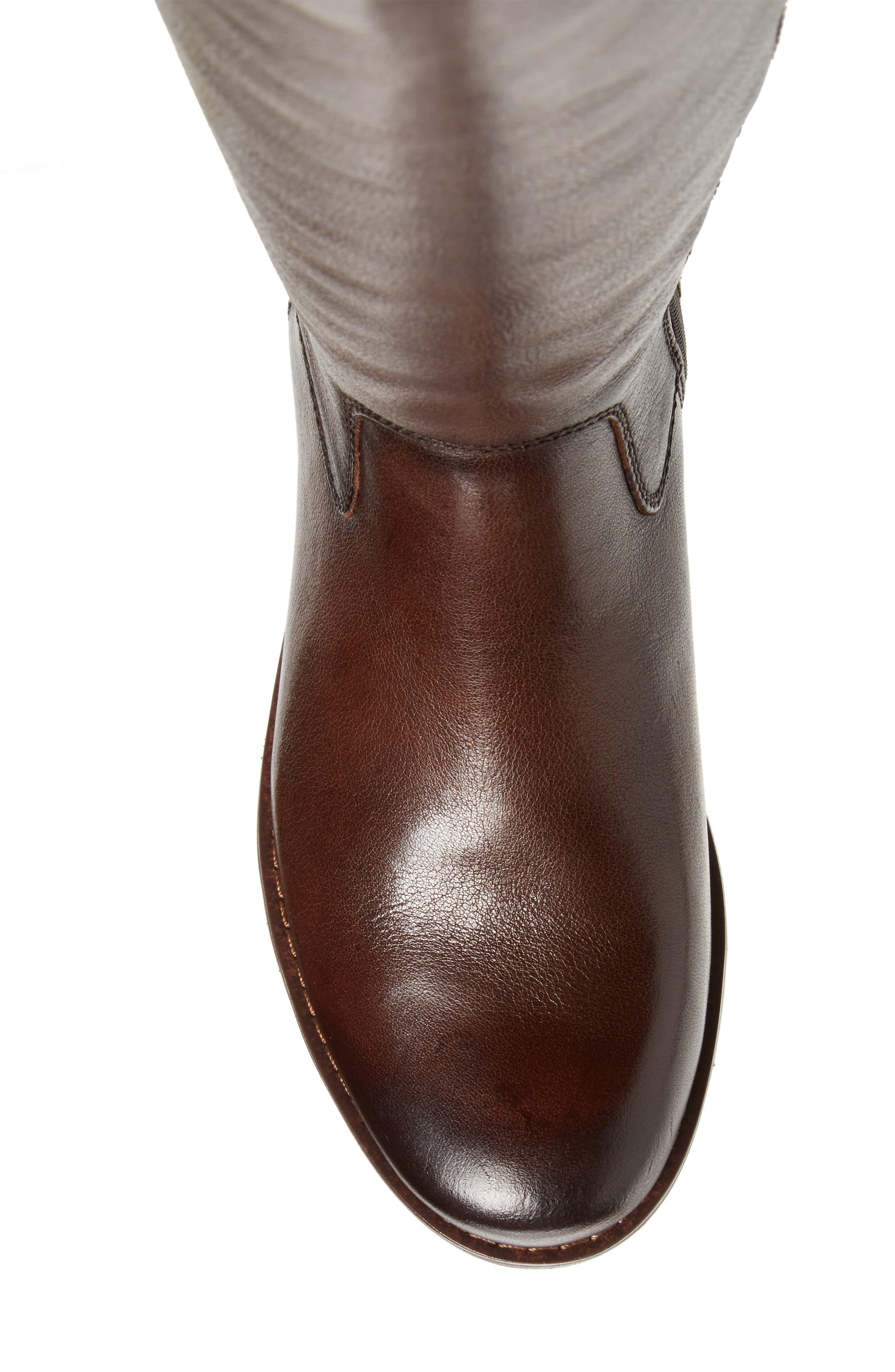 'Sharnell' Riding Boot,                             Alternate thumbnail 5, color,                             Aztec Brown Leather