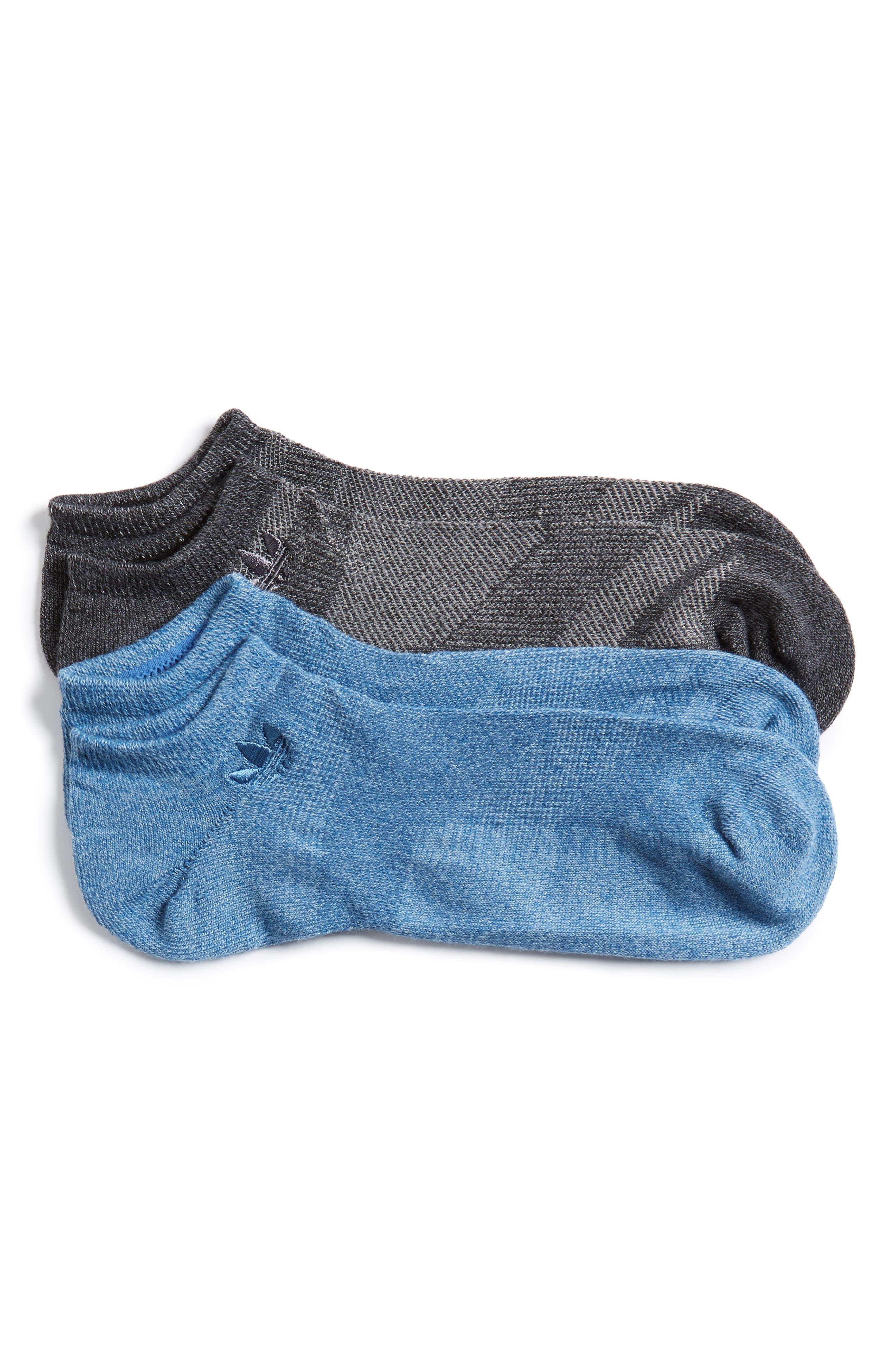 adidas Originals Prime Mesh 2-Pack No-Show Socks