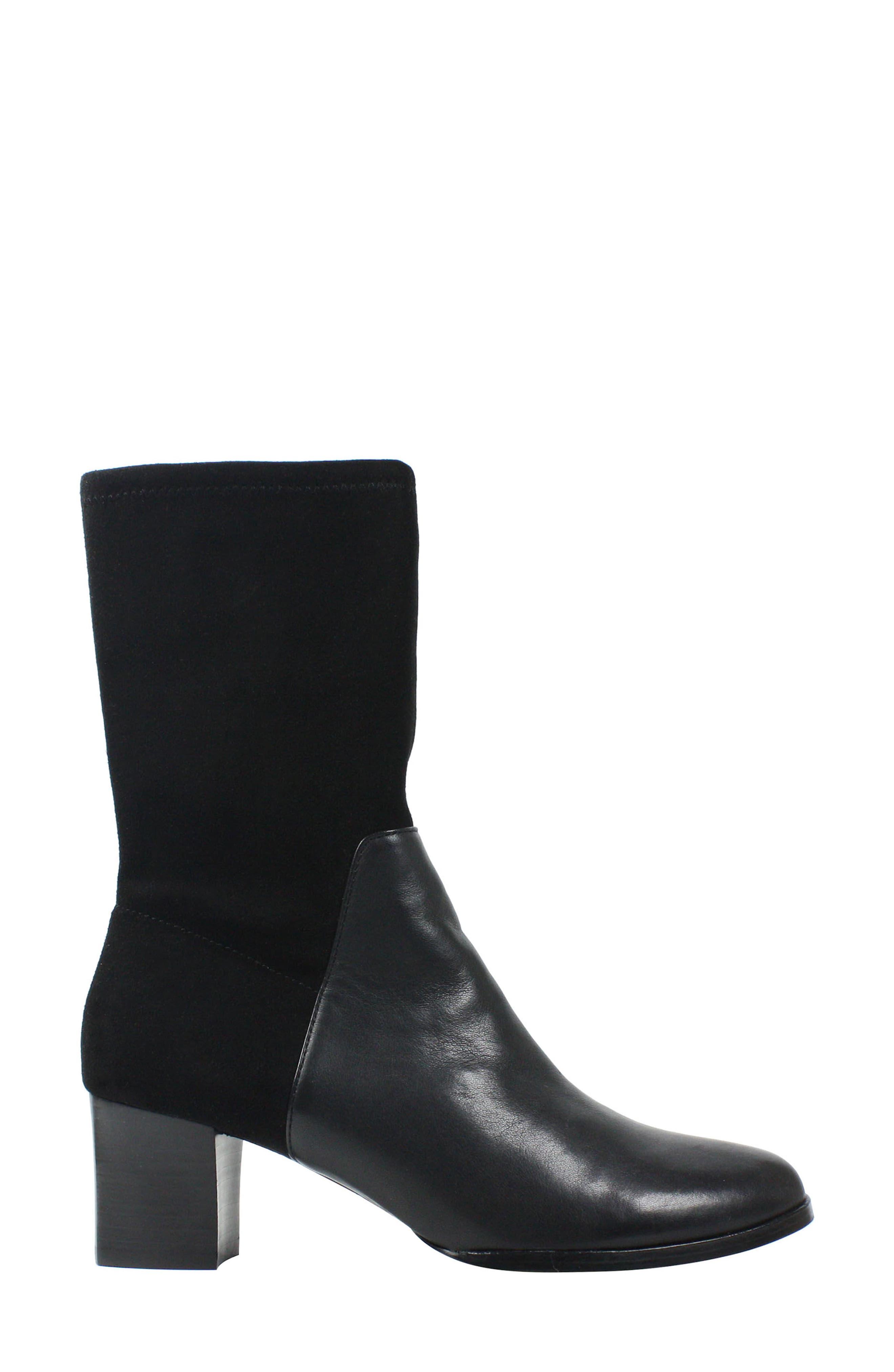 Pasublo Bootie,                             Alternate thumbnail 3, color,                             Black Leather
