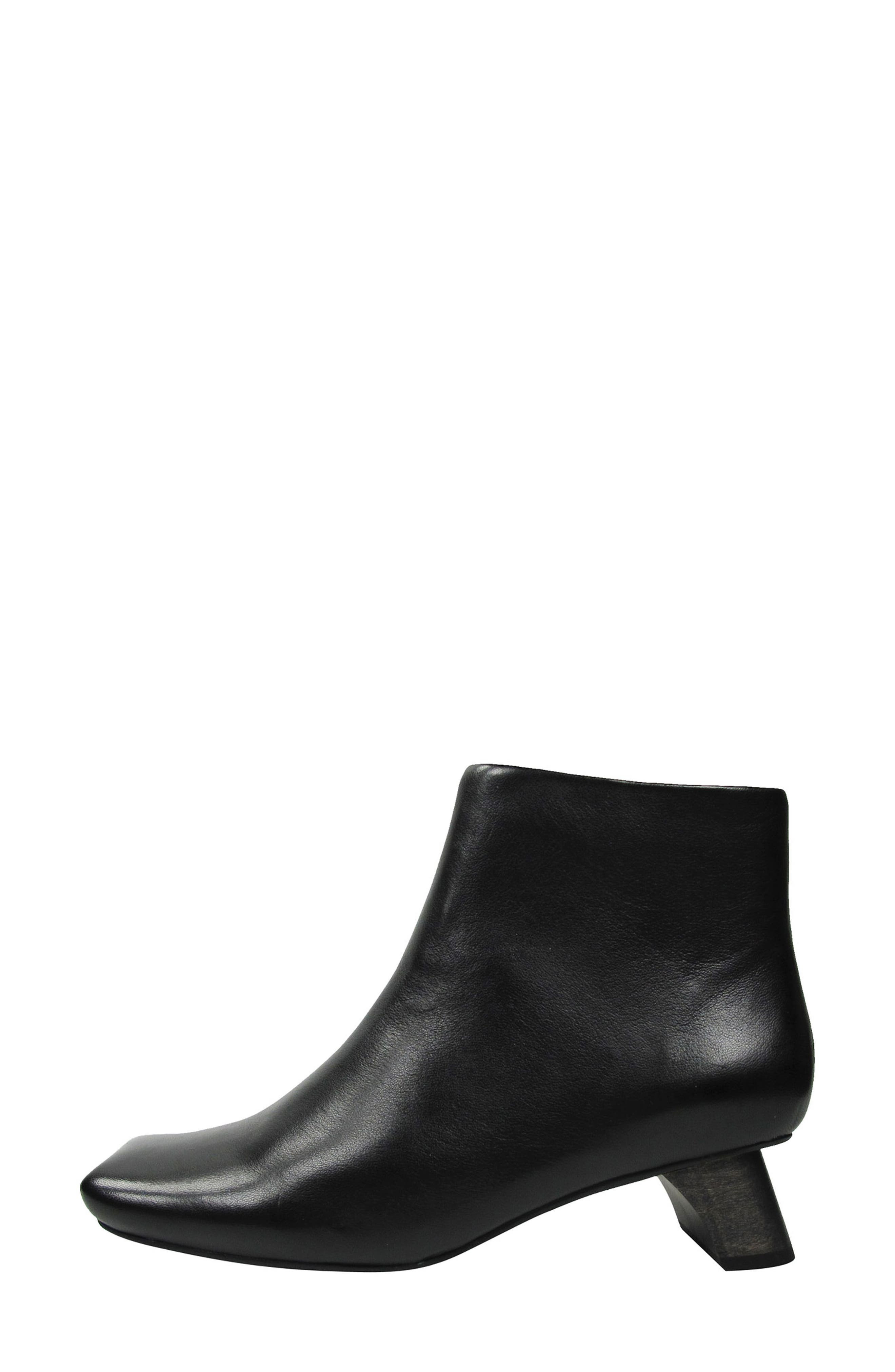 Willomina Bootie,                             Alternate thumbnail 2, color,                             Black Leather