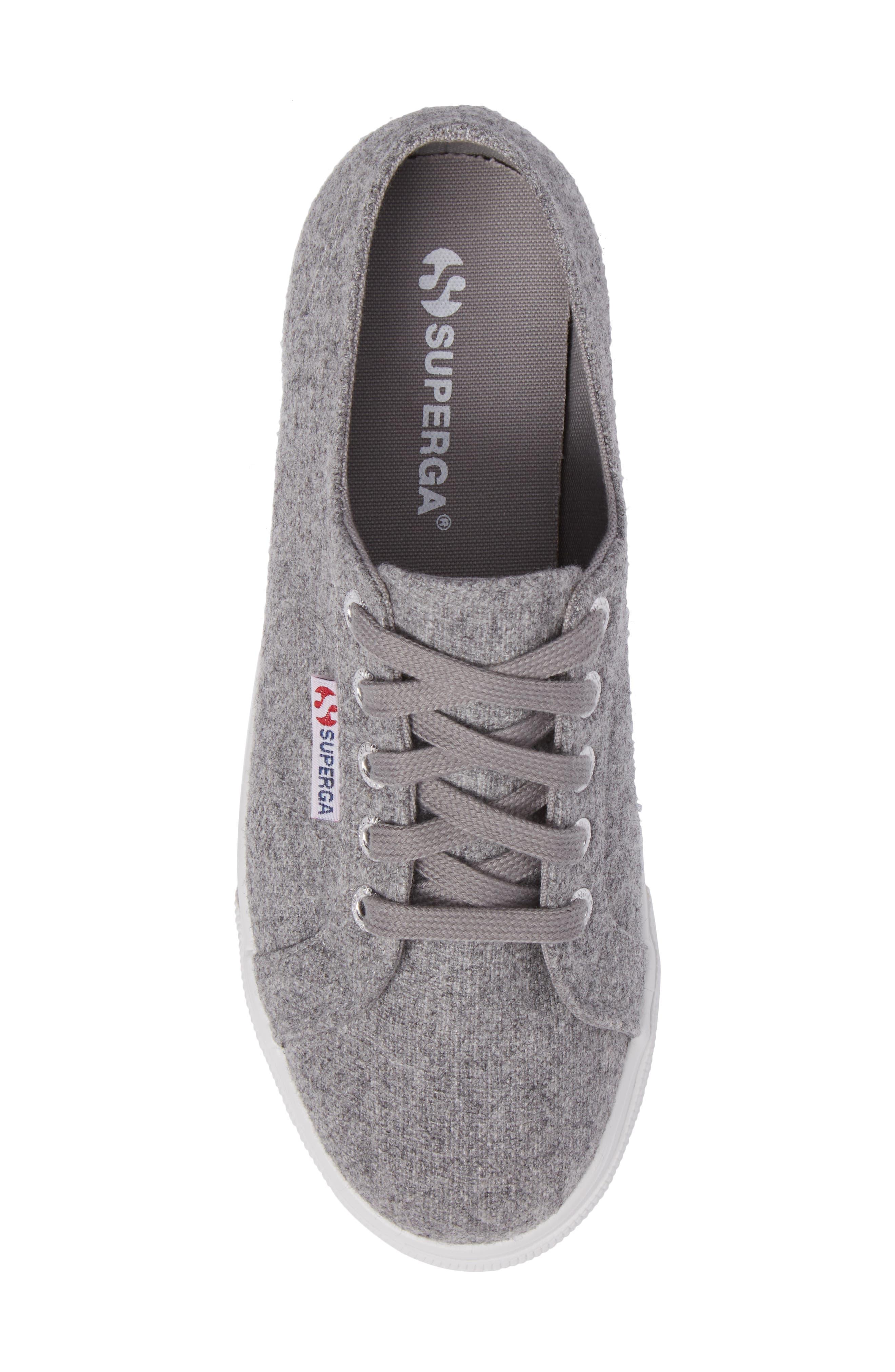 2790 Platform Sneaker,                             Alternate thumbnail 5, color,                             Light Grey Canvas