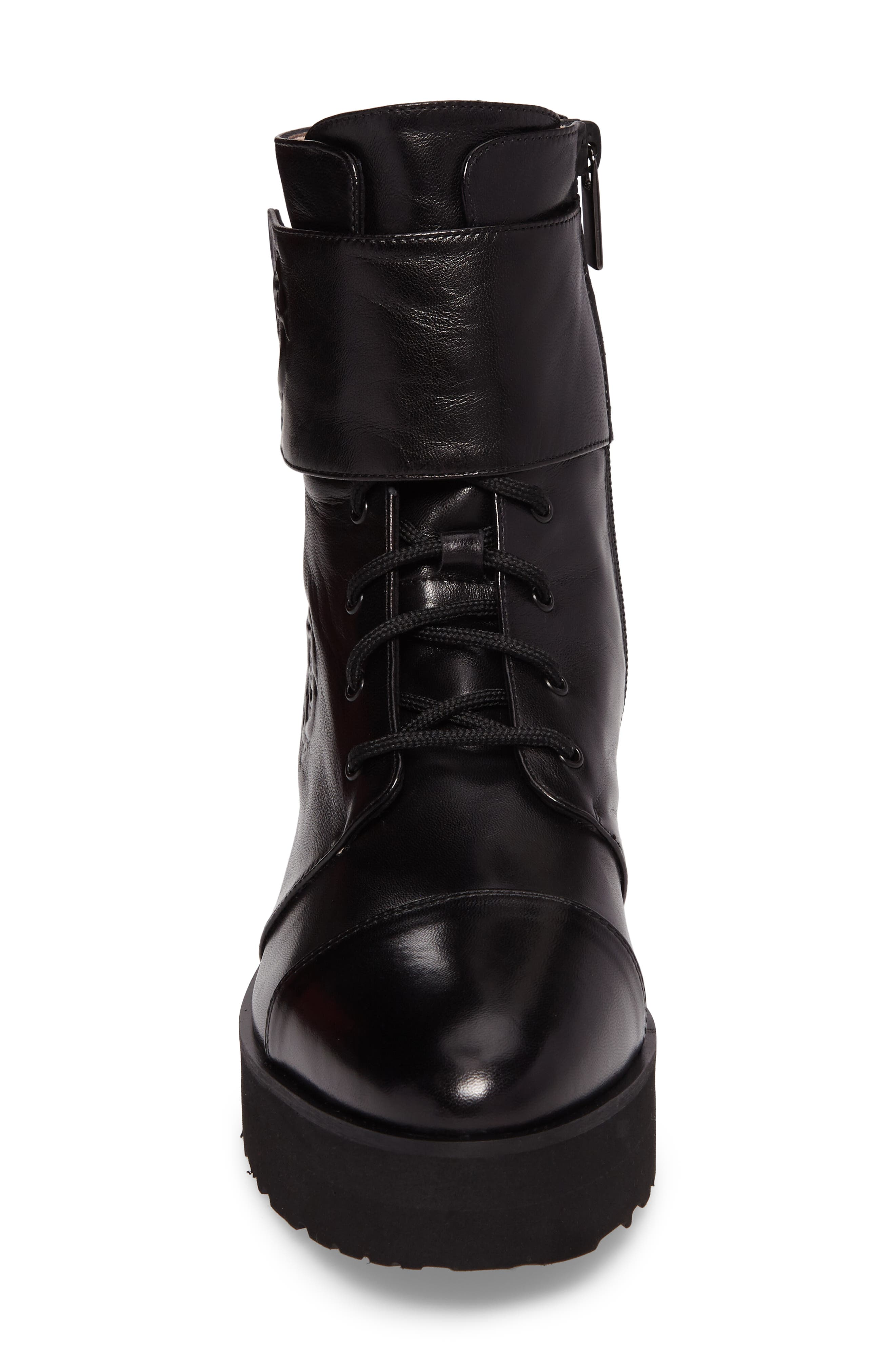 Valentina Rose Boot,                             Alternate thumbnail 4, color,                             Black Leather