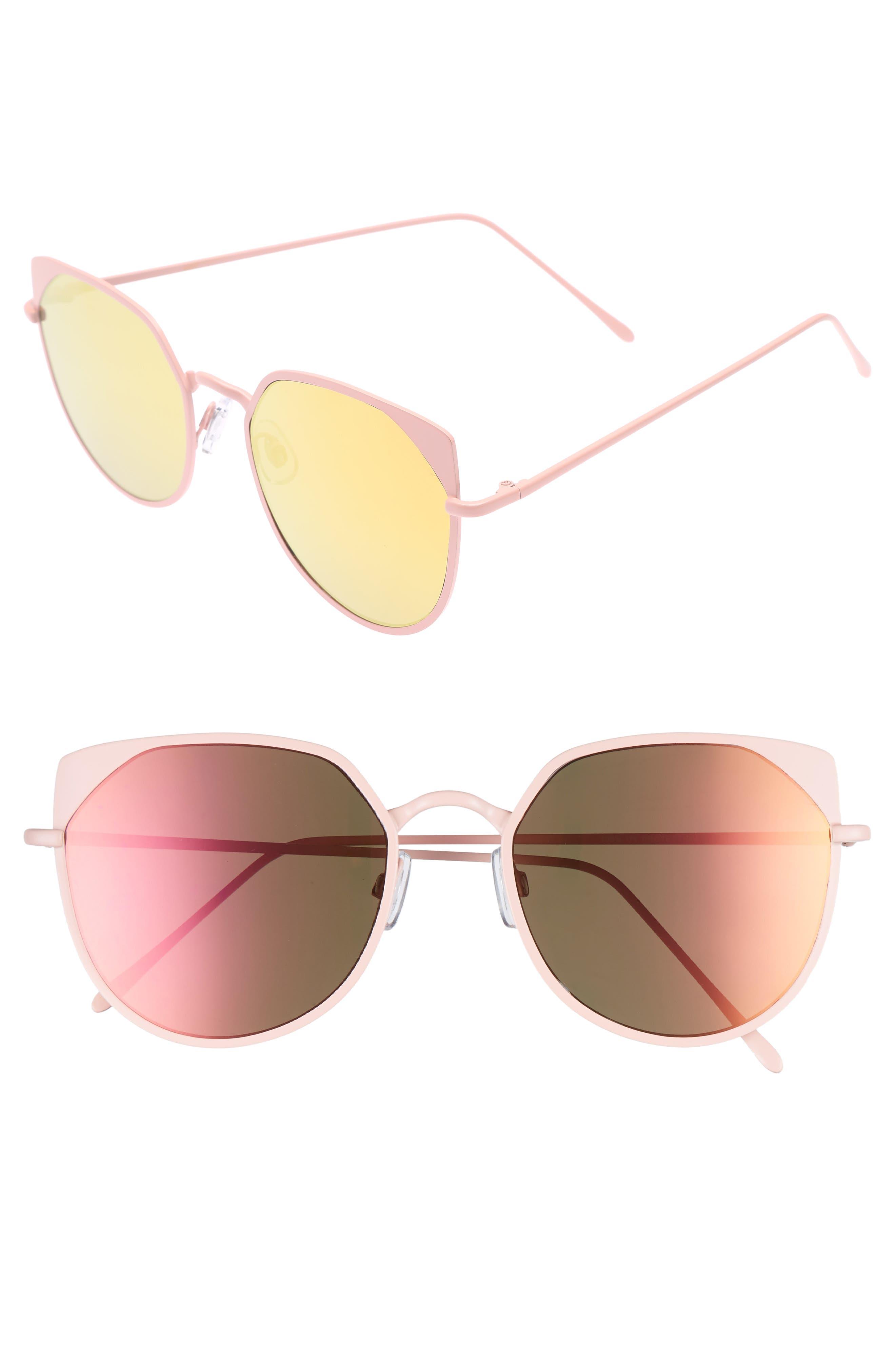 BP. 55mm Mirrored Cat Eye Sunglasses