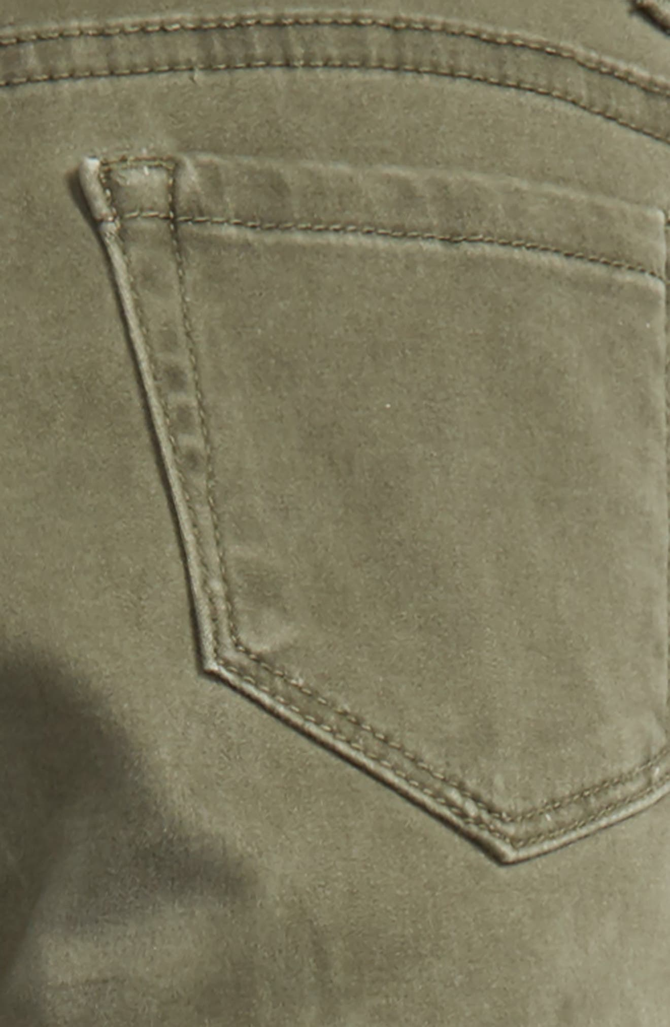 Pigment Wash Skinny Jeans,                             Alternate thumbnail 3, color,                             Olive Grove