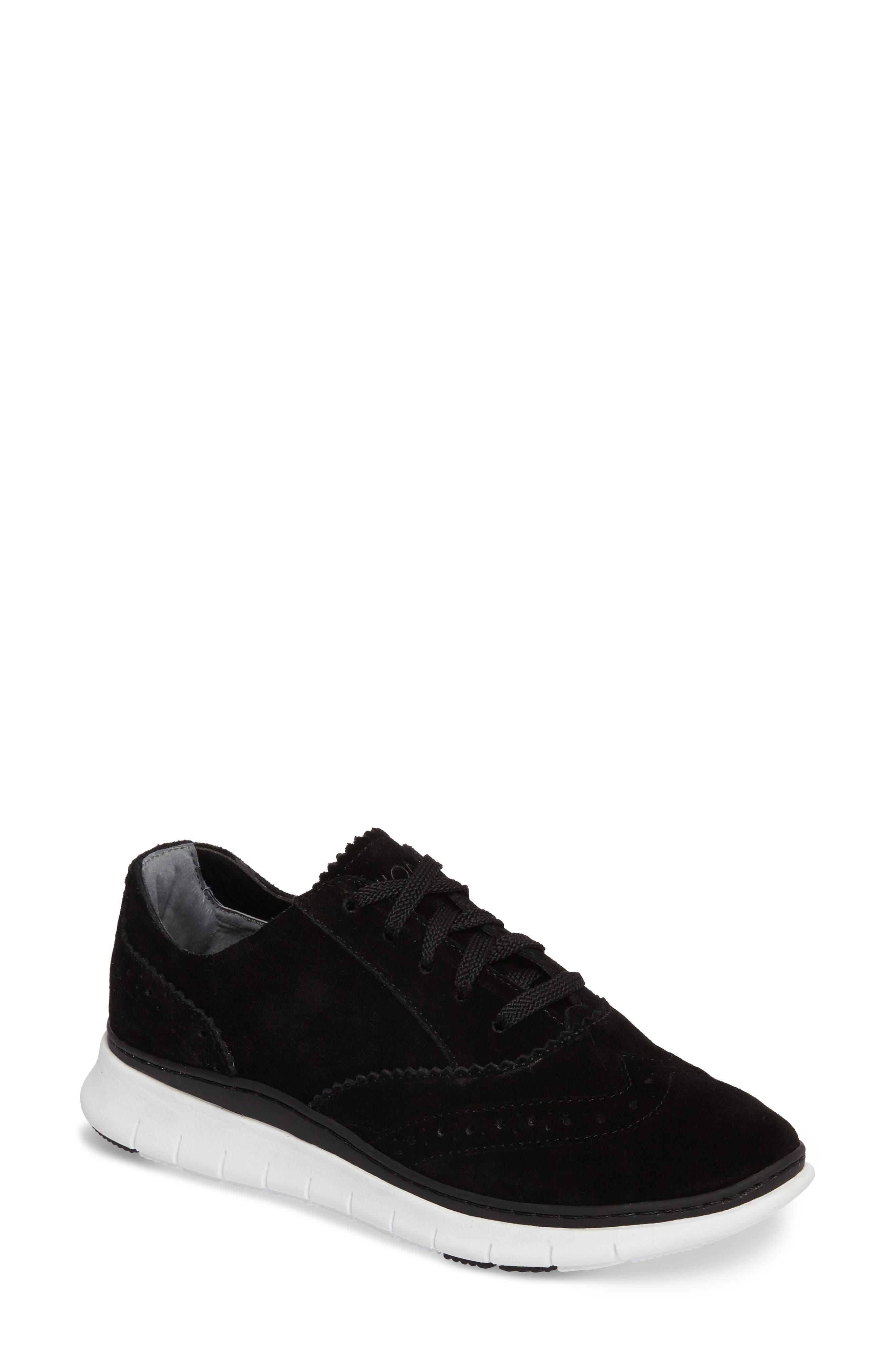 Kenley Sneaker,                         Main,                         color, Black Suede
