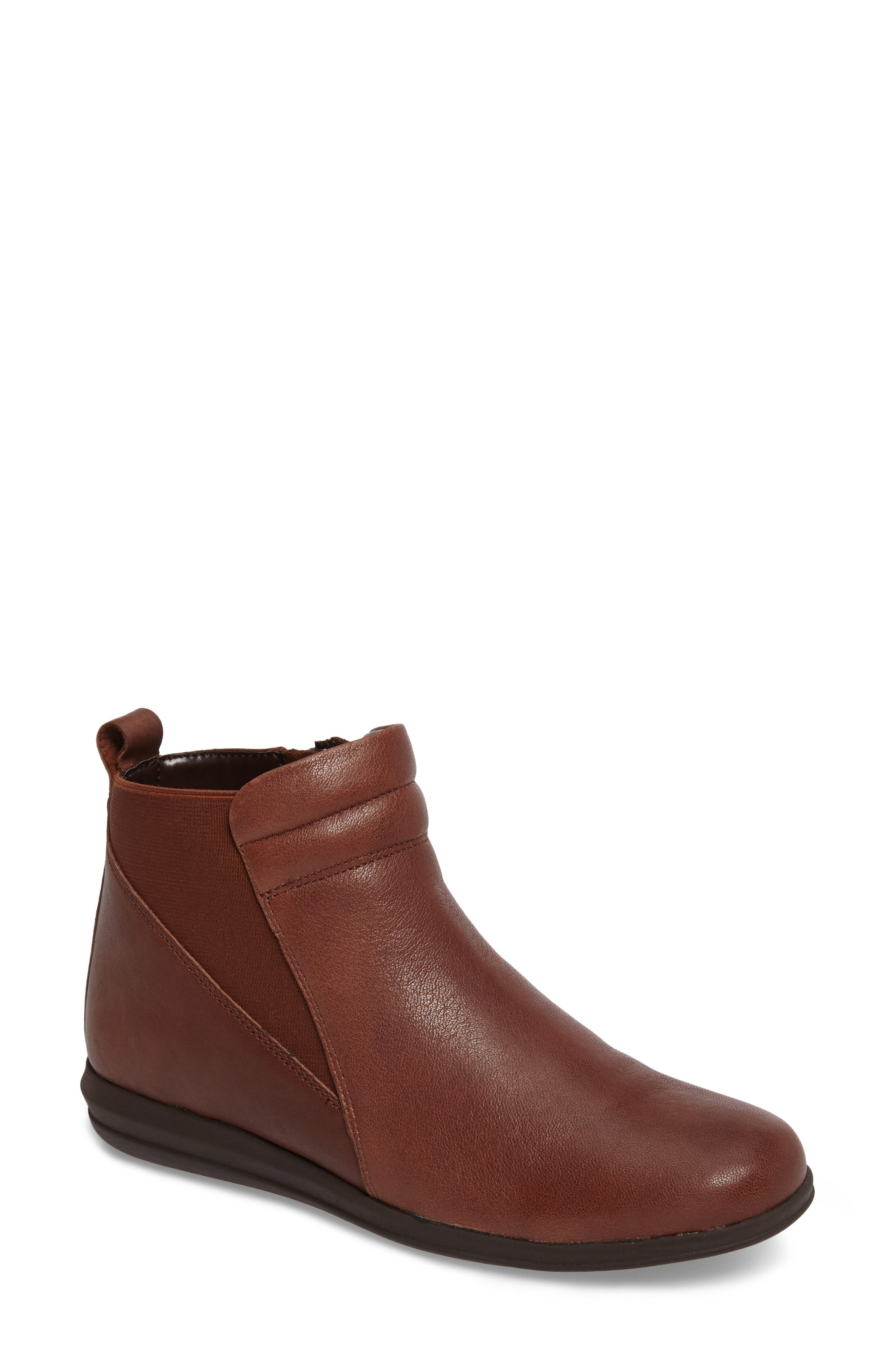 Cactus Bootie,                             Main thumbnail 1, color,                             Brown Leather