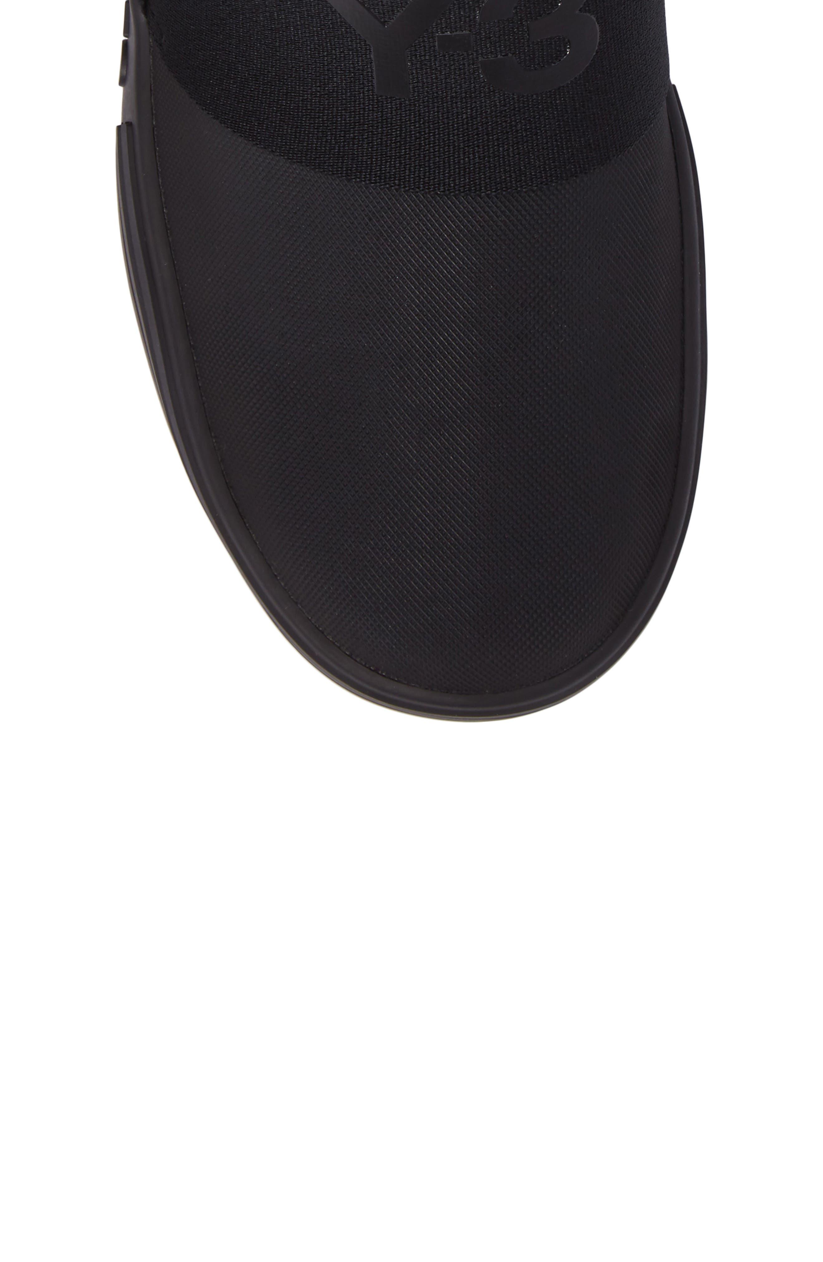 Sno Foxing High Top Sneaker,                             Alternate thumbnail 5, color,                             Core Black / White