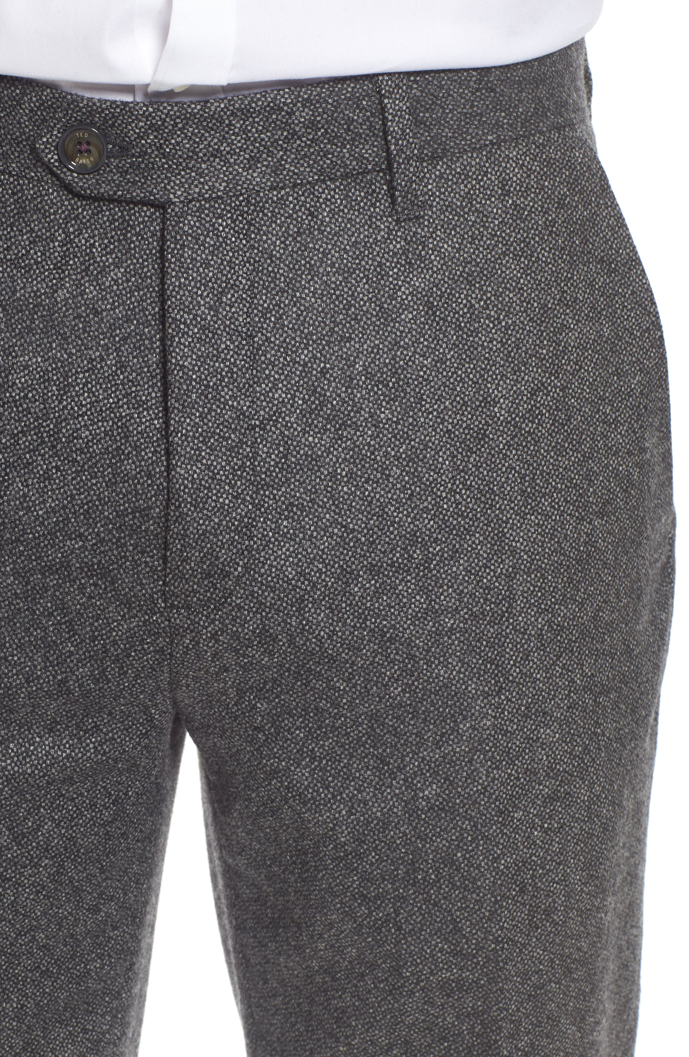 Modern Slim Fit Trousers,                             Alternate thumbnail 4, color,                             Charcoal