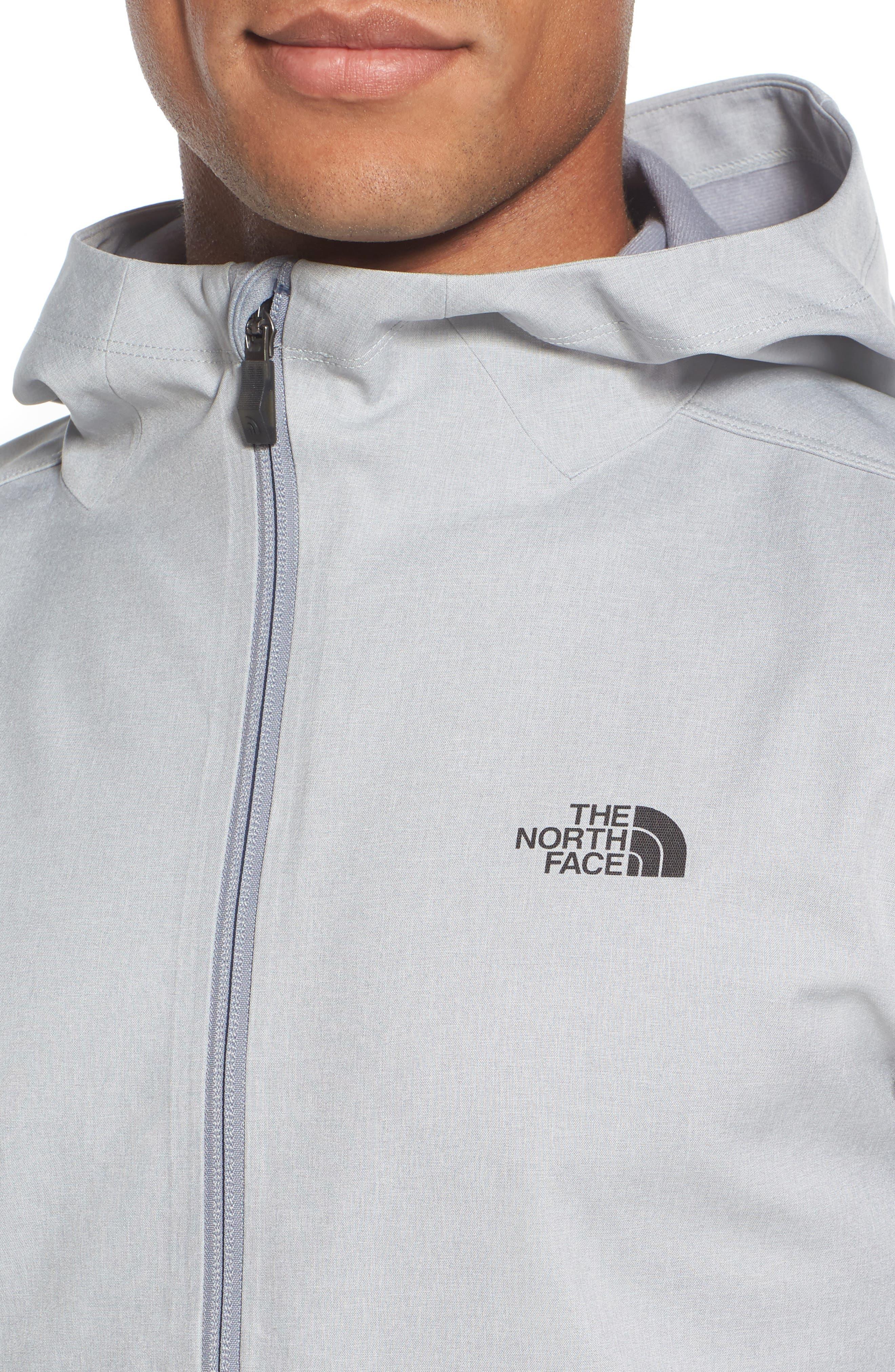 'Kilowatt' Hooded Jacket,                             Alternate thumbnail 4, color,                             Tnf Light Grey Heather