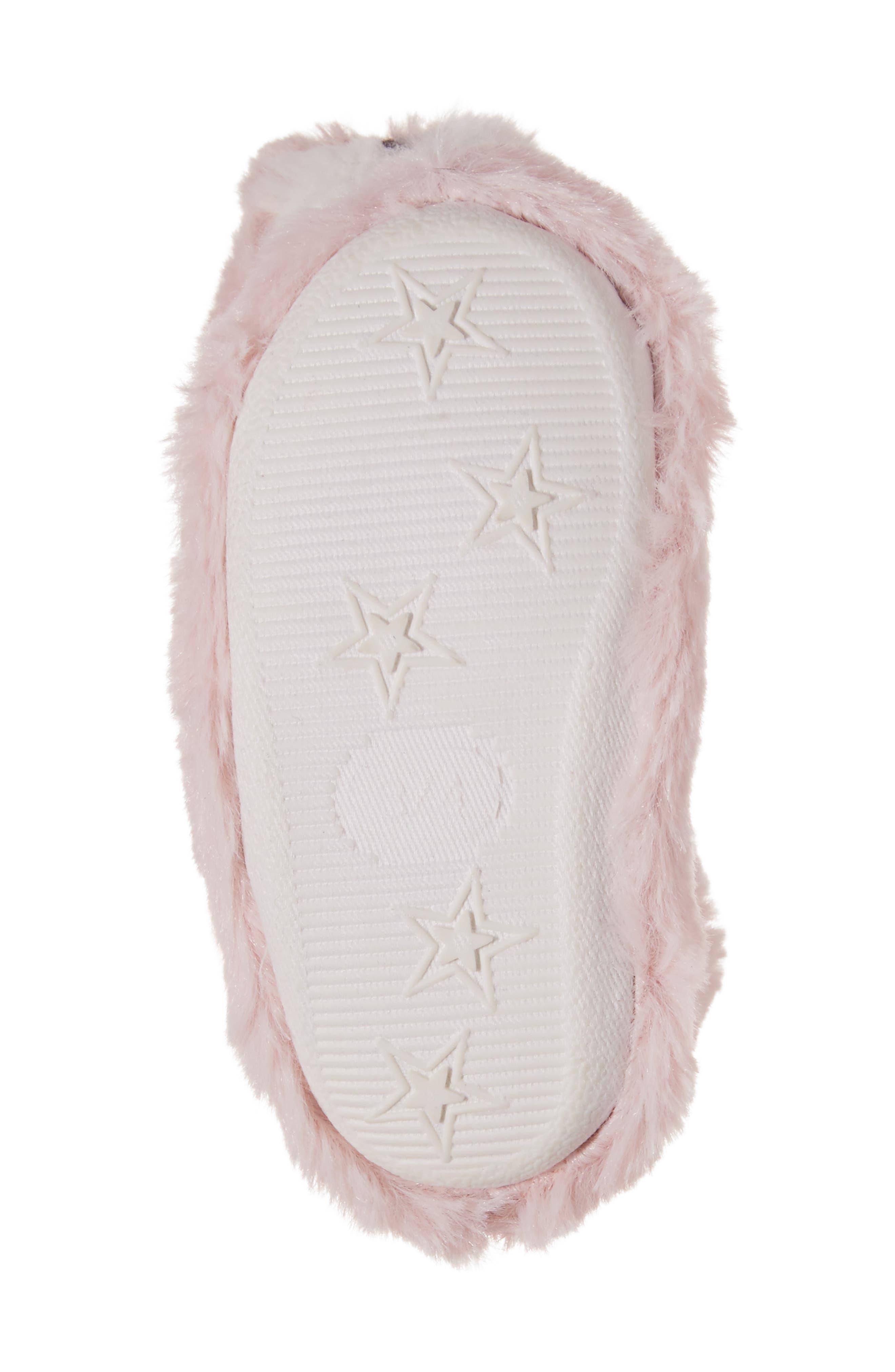 Plush Animal Slipper,                             Alternate thumbnail 6, color,                             Pink Bunny