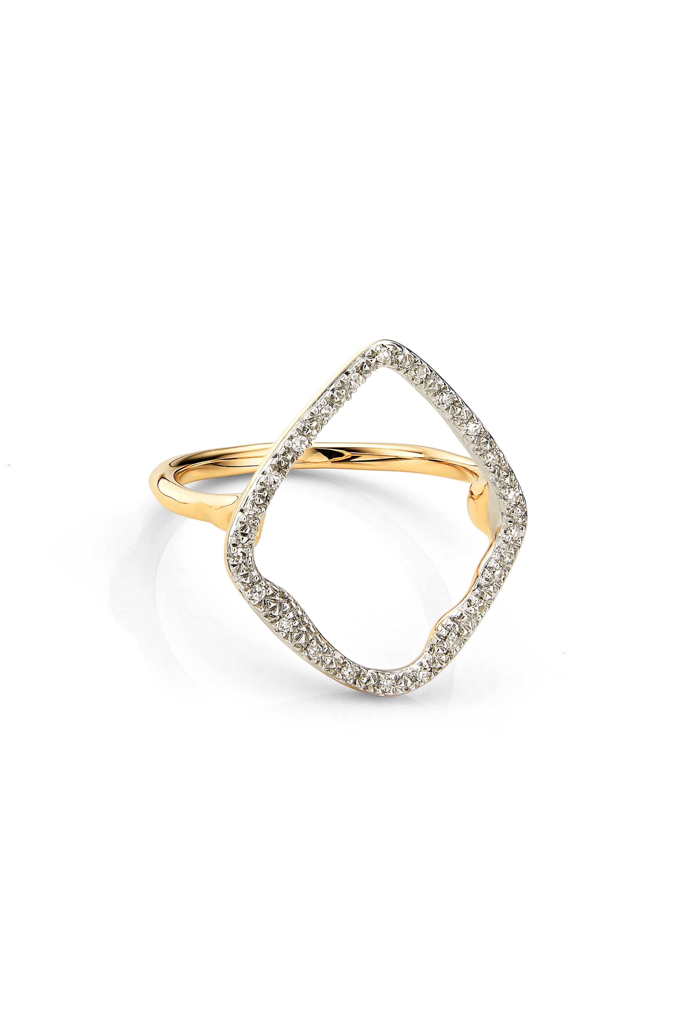 Monica Vinader Riva Hoop Diamond Ring