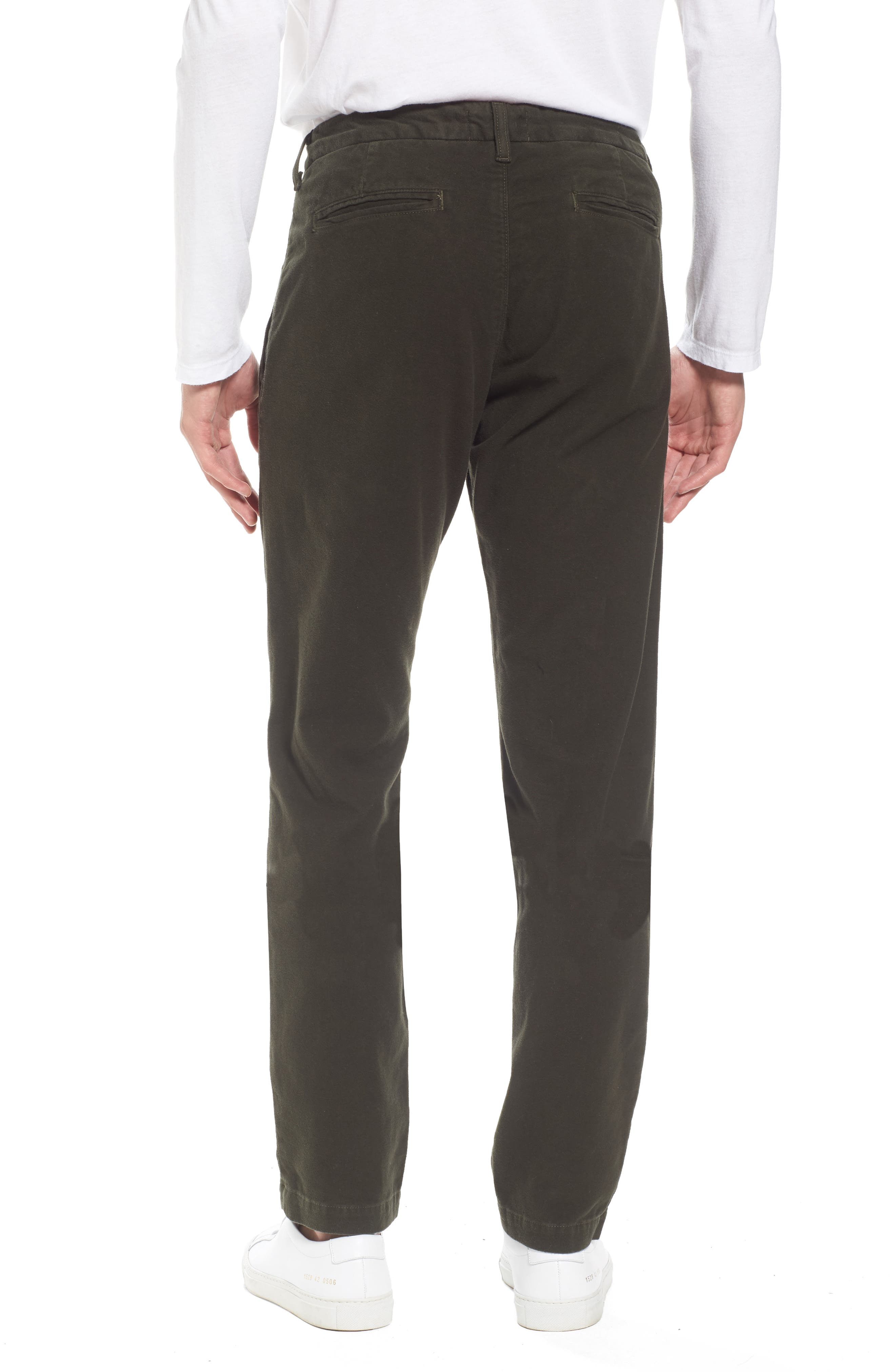 Slim Fit Trousers,                             Alternate thumbnail 2, color,                             Forest