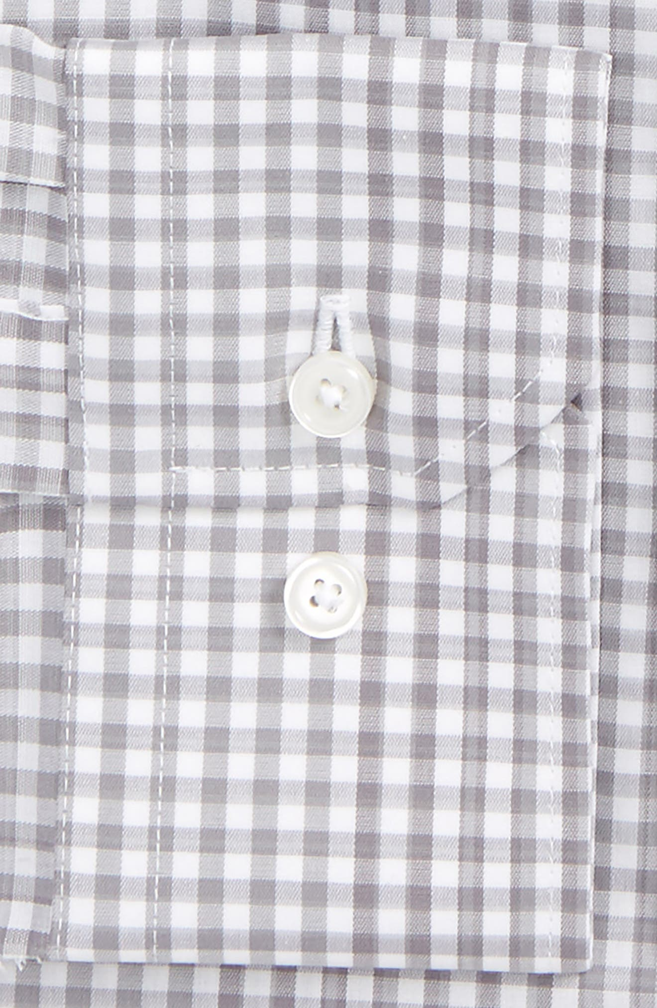 Alternate Image 2  - Calibrate Trim Fit Stretch Non-Iron Check Dress Shirt