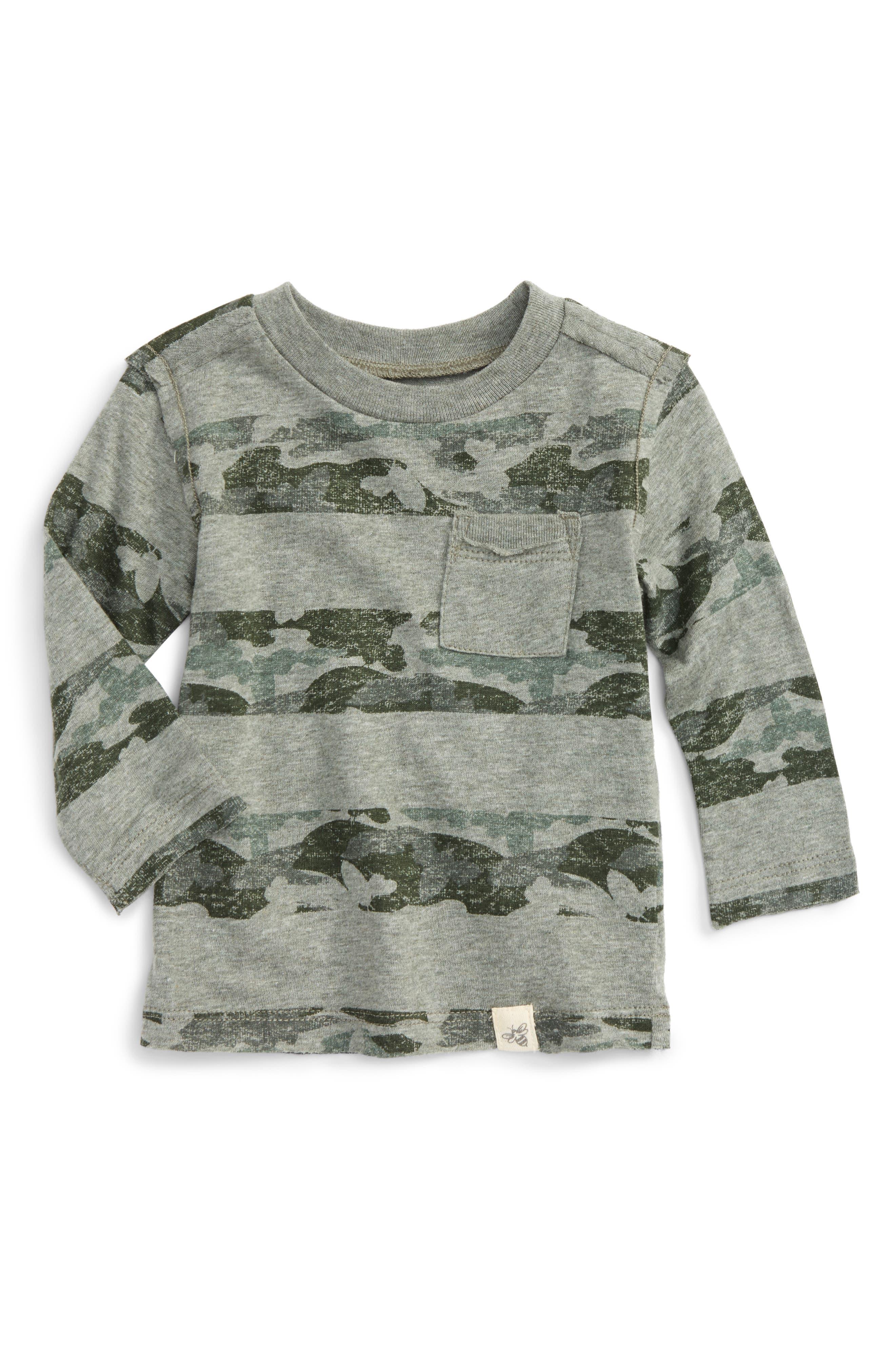 Camo Print Organic Cotton Pocket T-Shirt,                         Main,                         color, Dried Leaf Heather