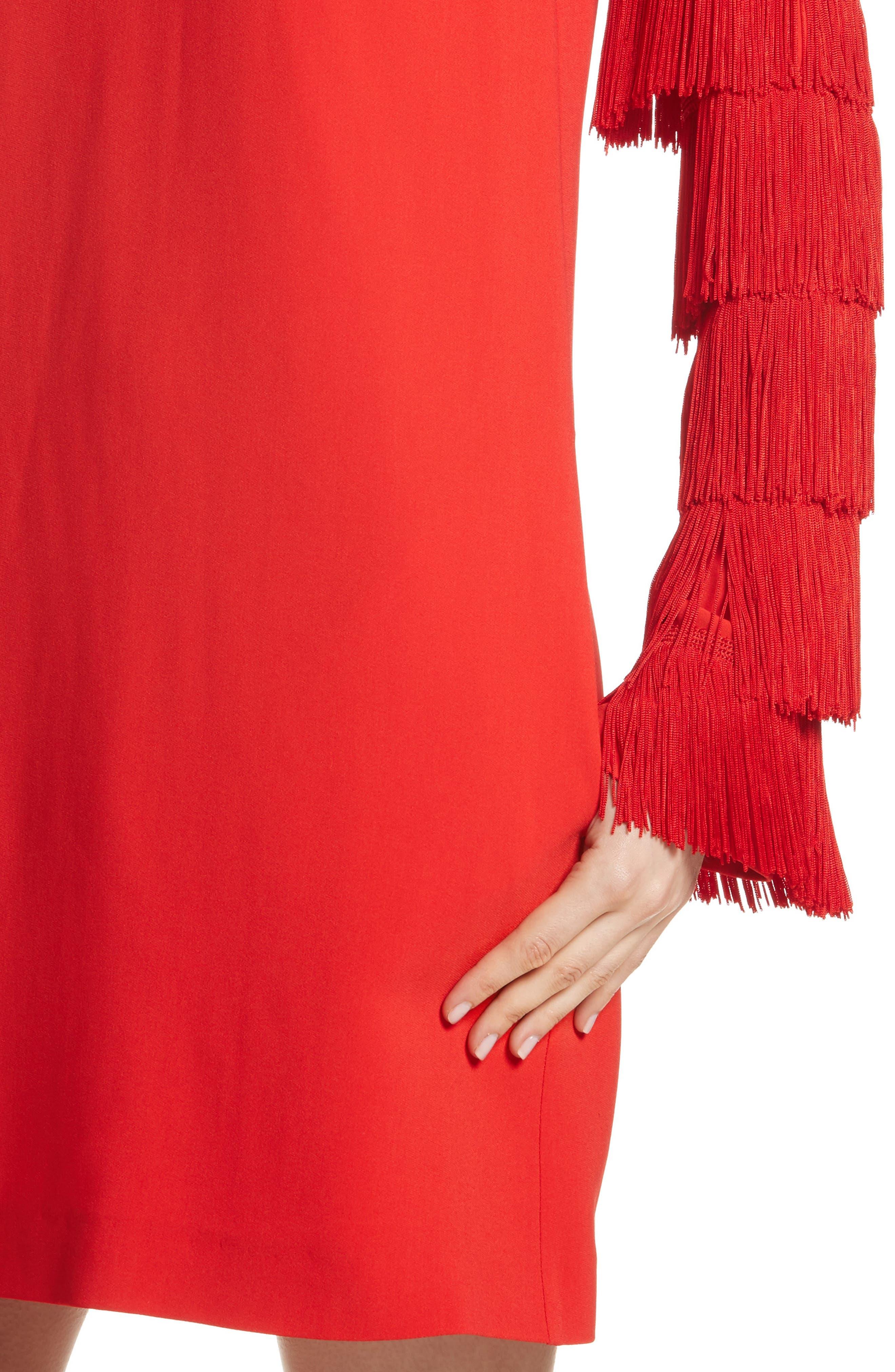 Alternate Image 6  - Stella McCartney Fringe Sleeve Stretch Cady Dress
