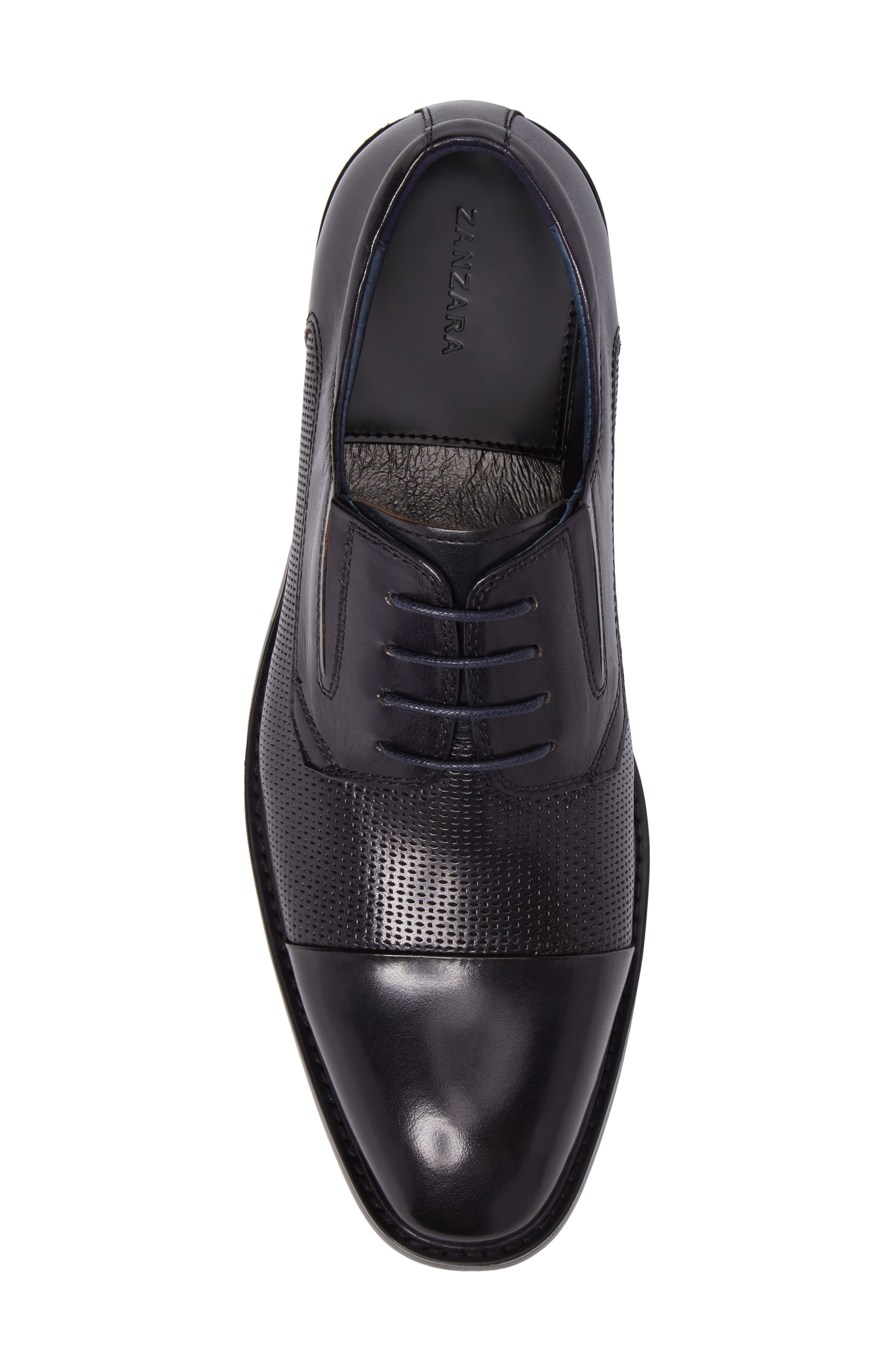 Dayes Cap Toe Derby,                             Alternate thumbnail 5, color,                             Navy Leather