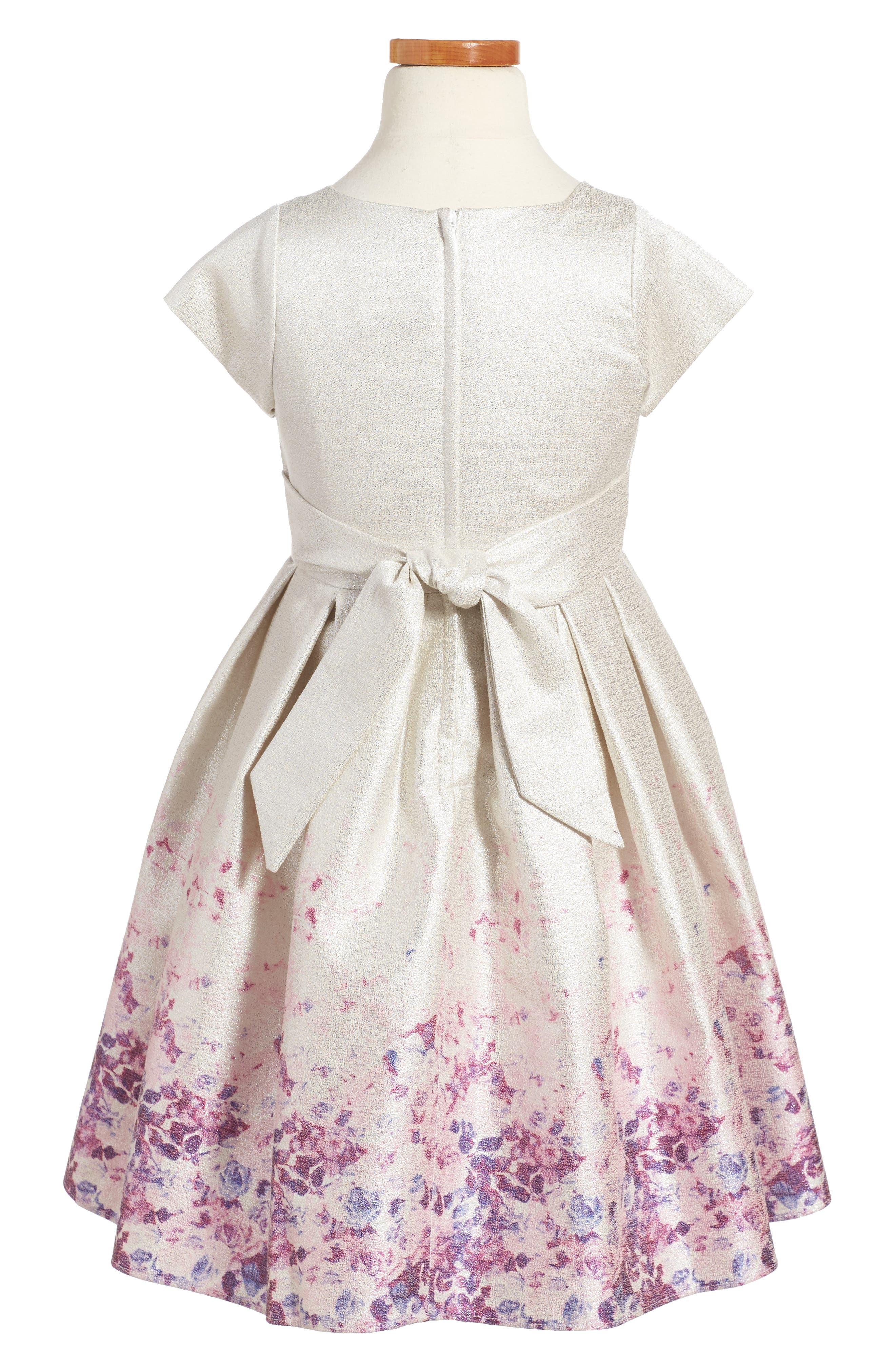 Liza Dress,                             Alternate thumbnail 2, color,                             Silver/ Multi