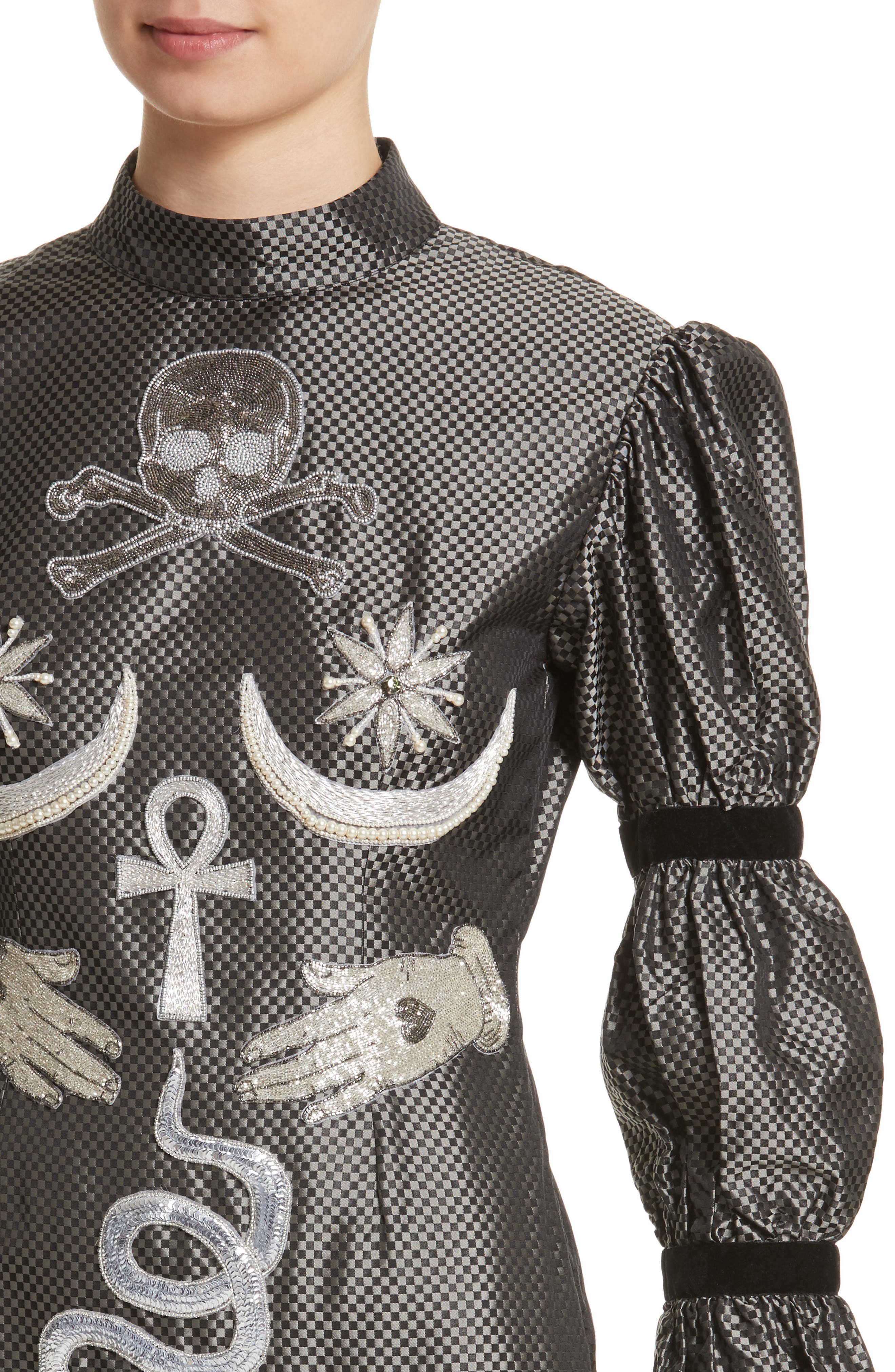 Alternate Image 4  - Dilara Findikoglu Alien Goddess Embellished Silk Dress