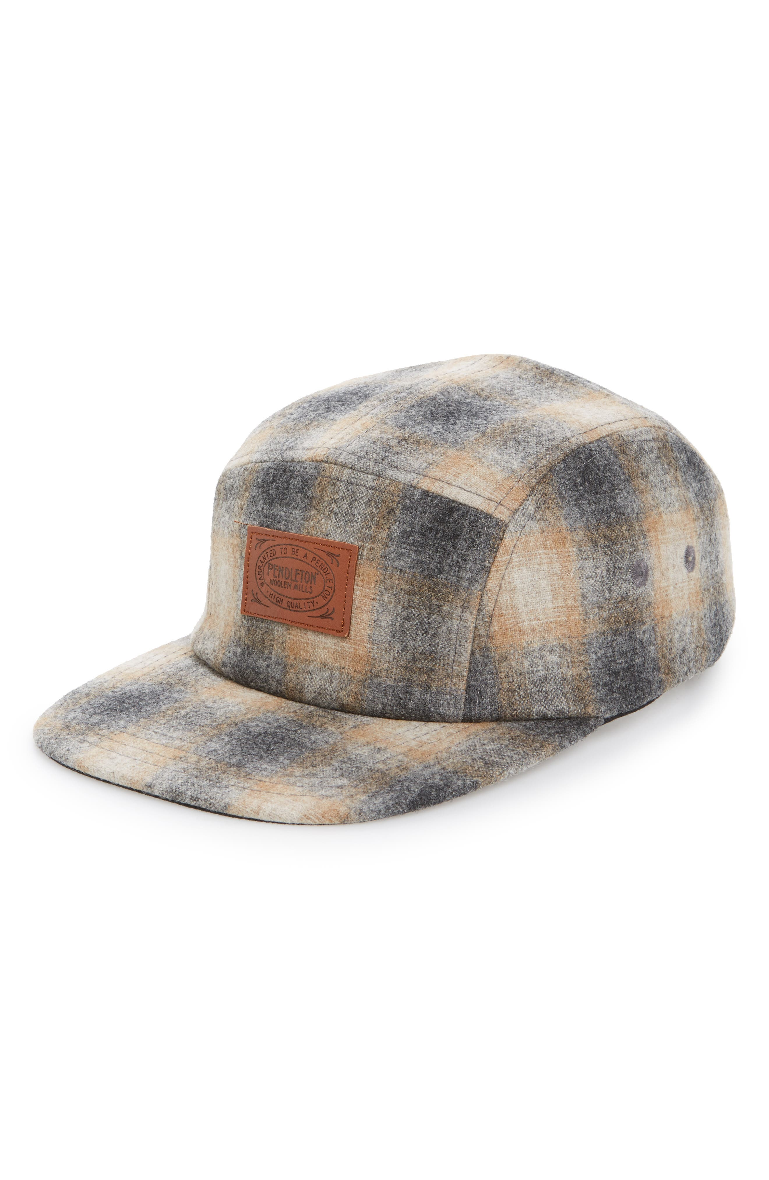 Five-Panel Camp Hat,                         Main,                         color, Oxford Grey/ Tan Ombre