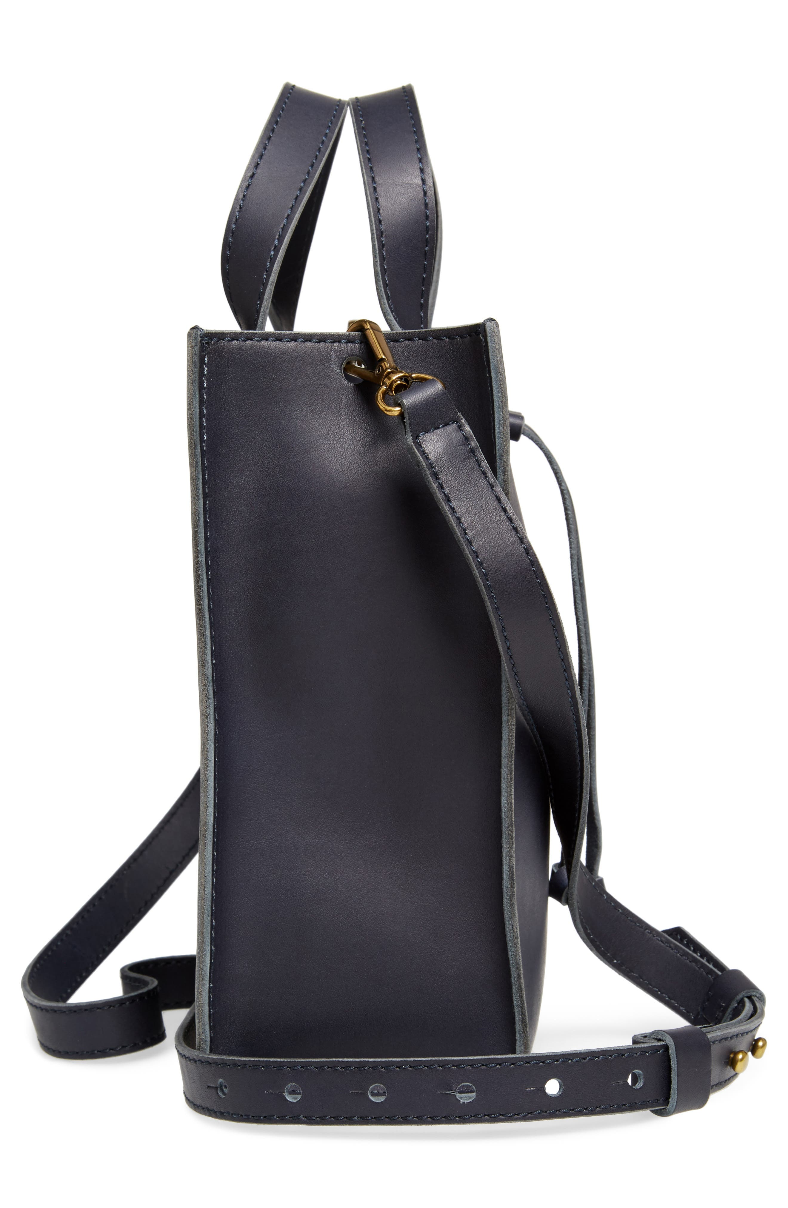 Alternate Image 5  - Madewell Small Trick Leather Top Handle Tote