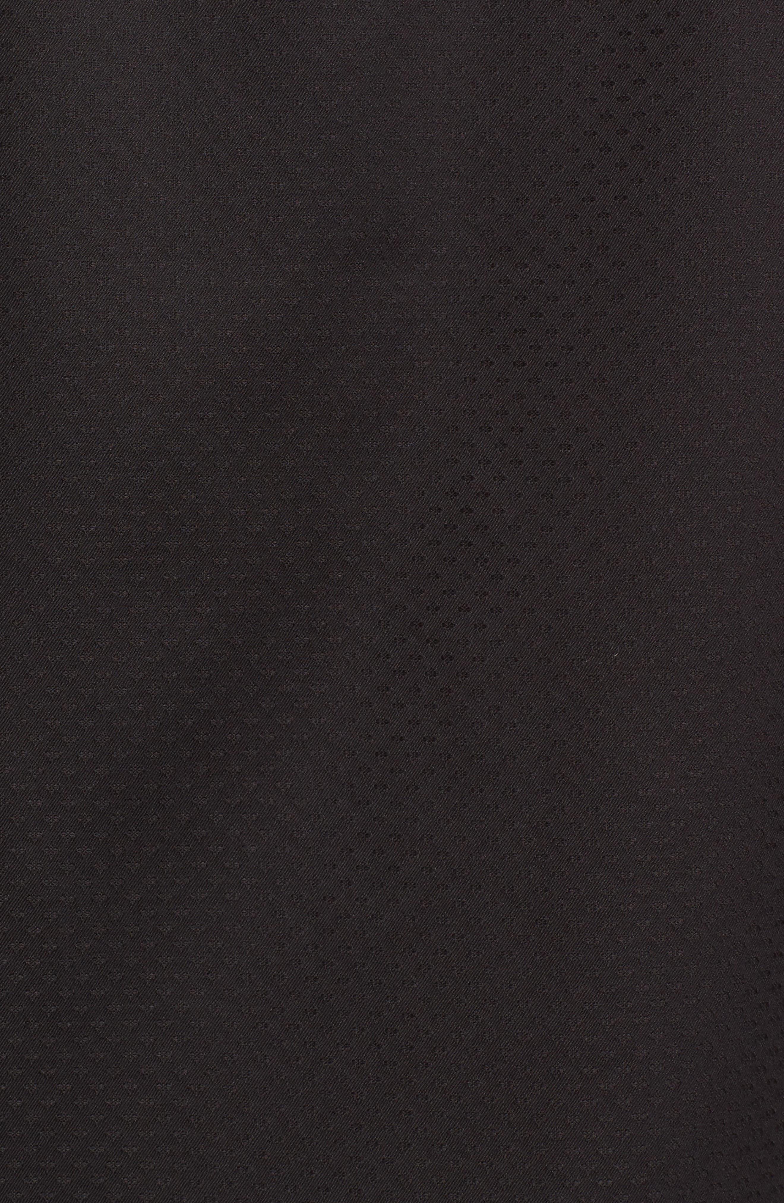 Classic Fit Diamond Jacquard Sport Shirt,                             Alternate thumbnail 5, color,                             Black