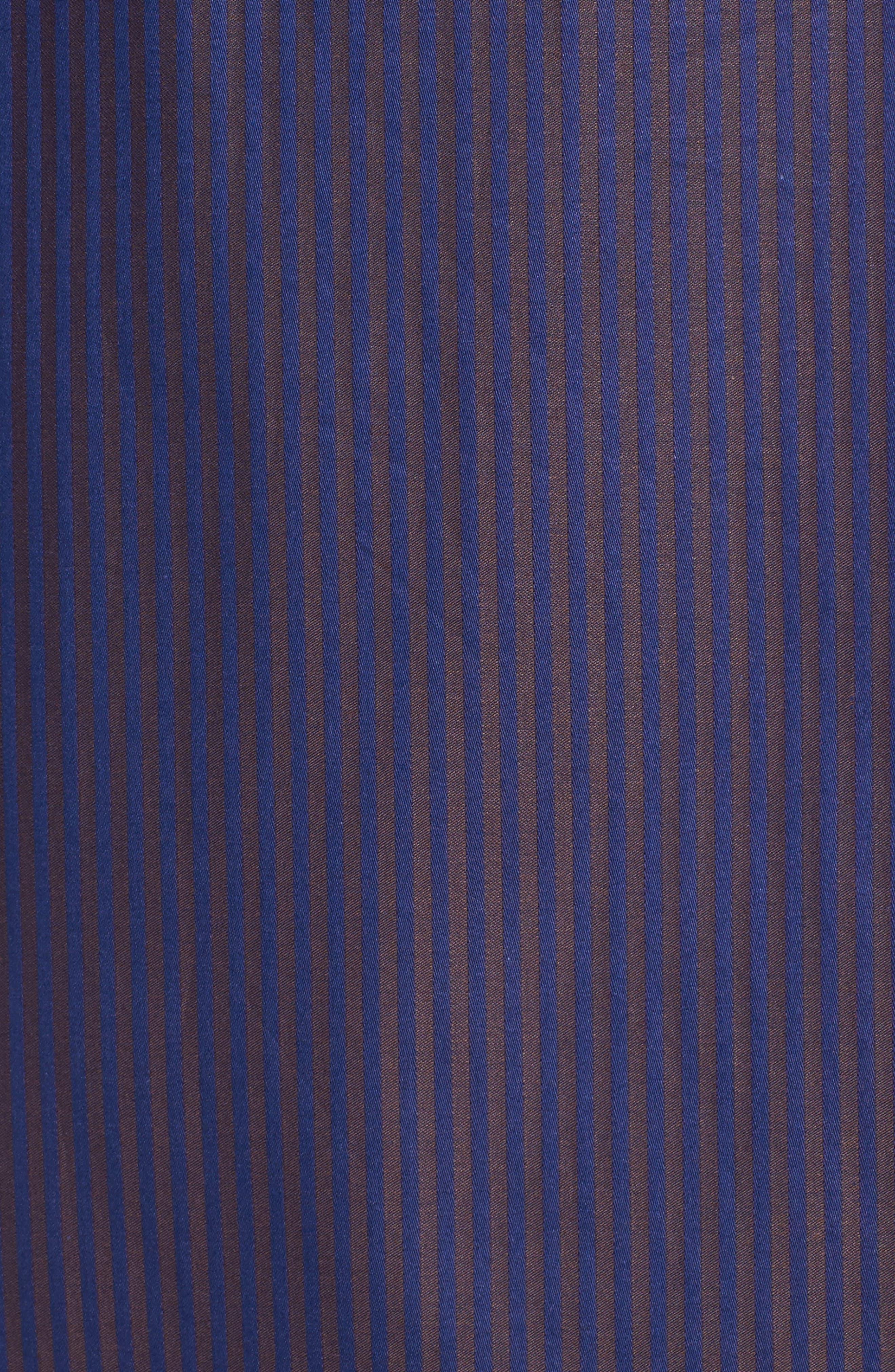 Alternate Image 5  - Bugatchi Classic Fit Herringbone Pinstripe Sport Shirt