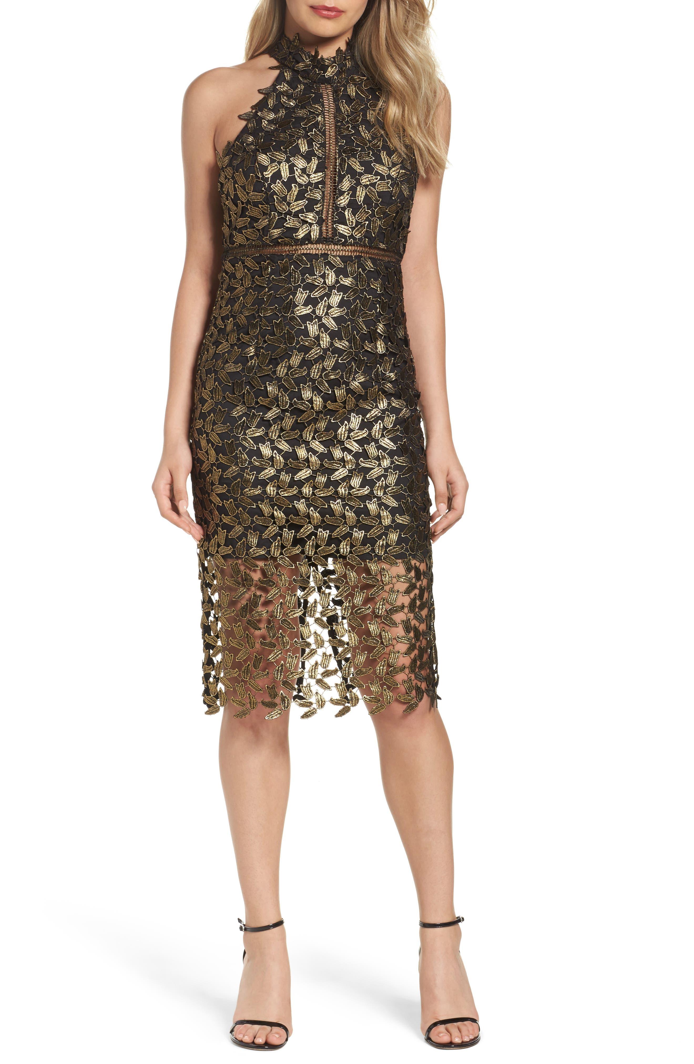 Bardot Gemma Halter Sheath Dress