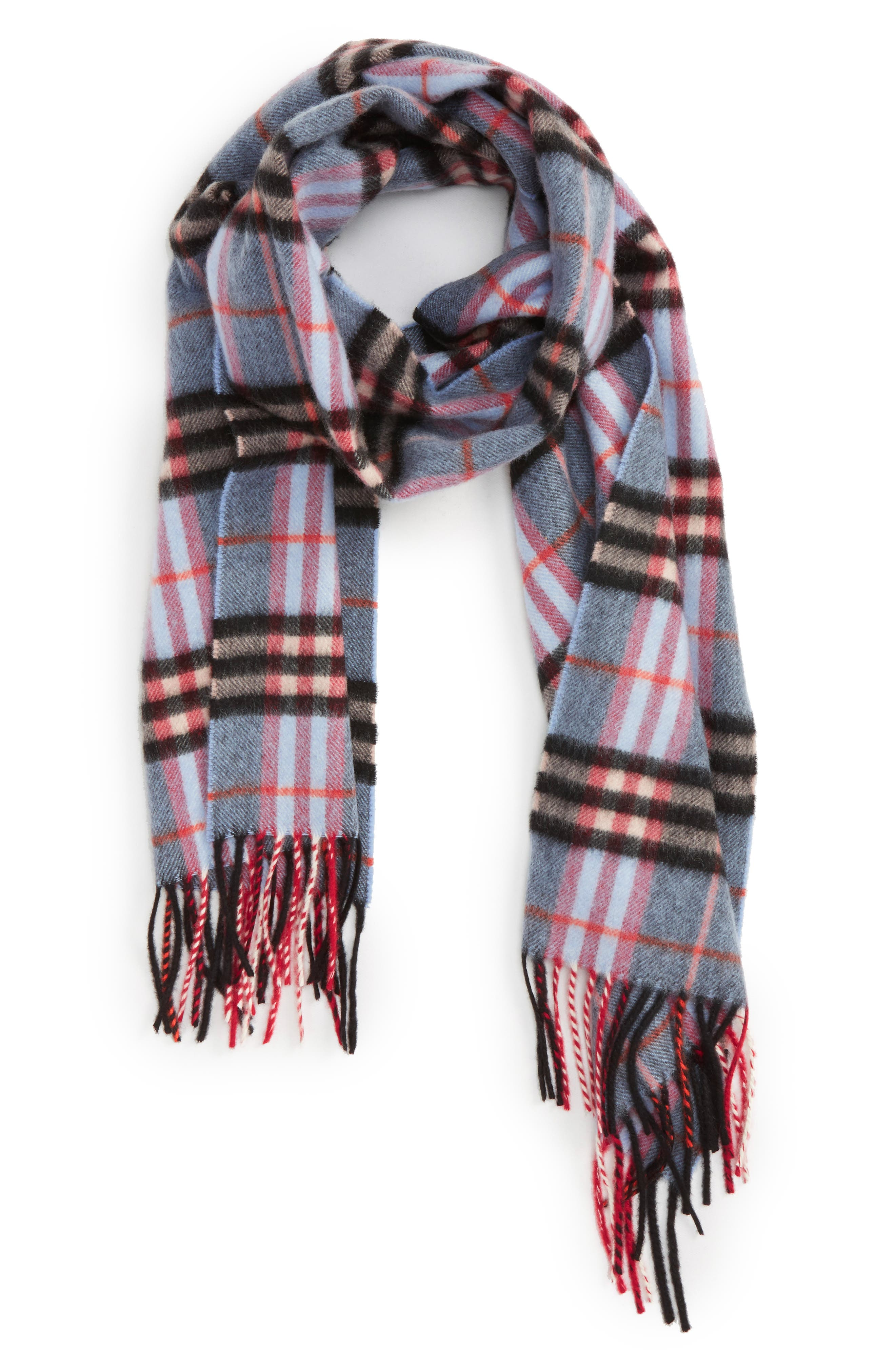 Alternate Image 1 Selected - Burberry Castleford Check Cashmere Scarf