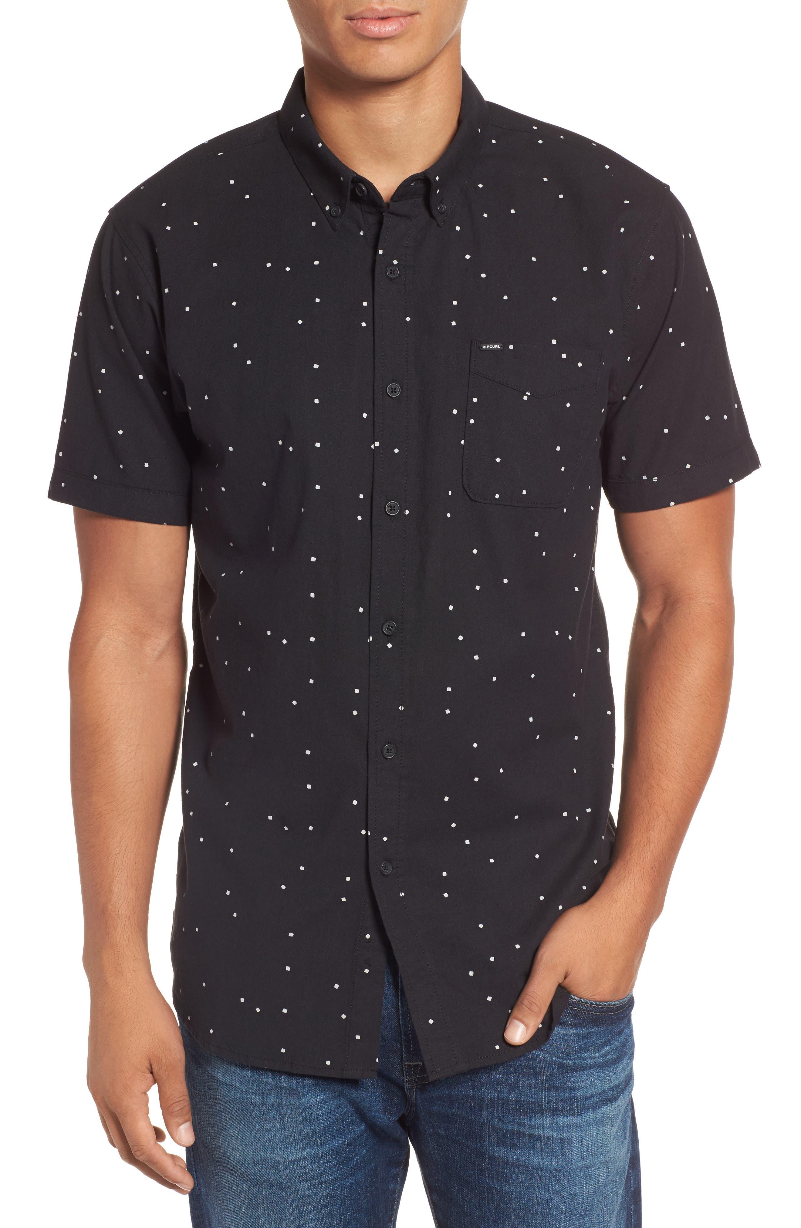 Mixter Short Sleeve Shirt,                         Main,                         color, Black