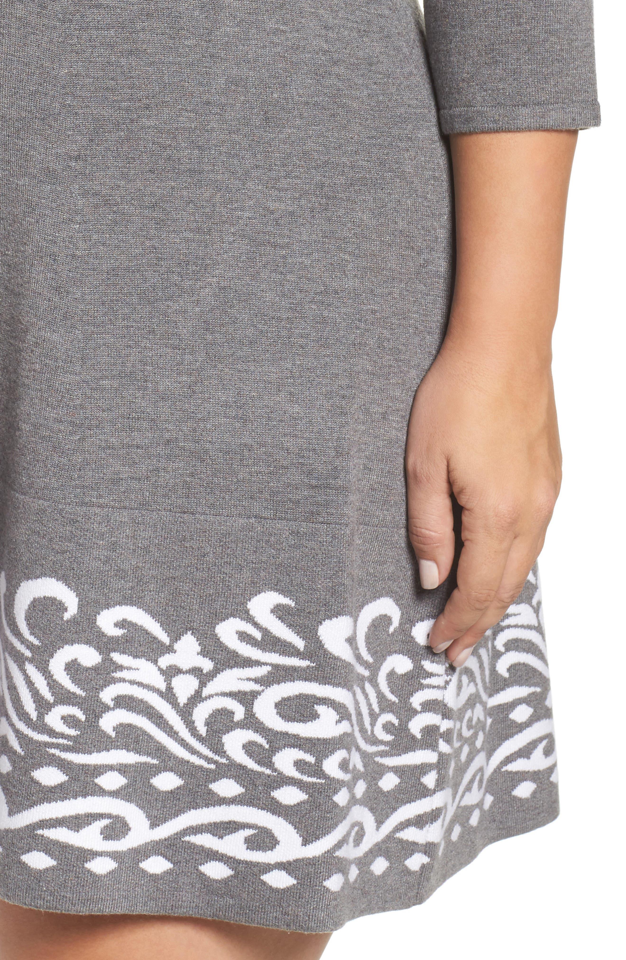 Alternate Image 4  - Eliza J A-Line Sweater Dress (Plus Size)