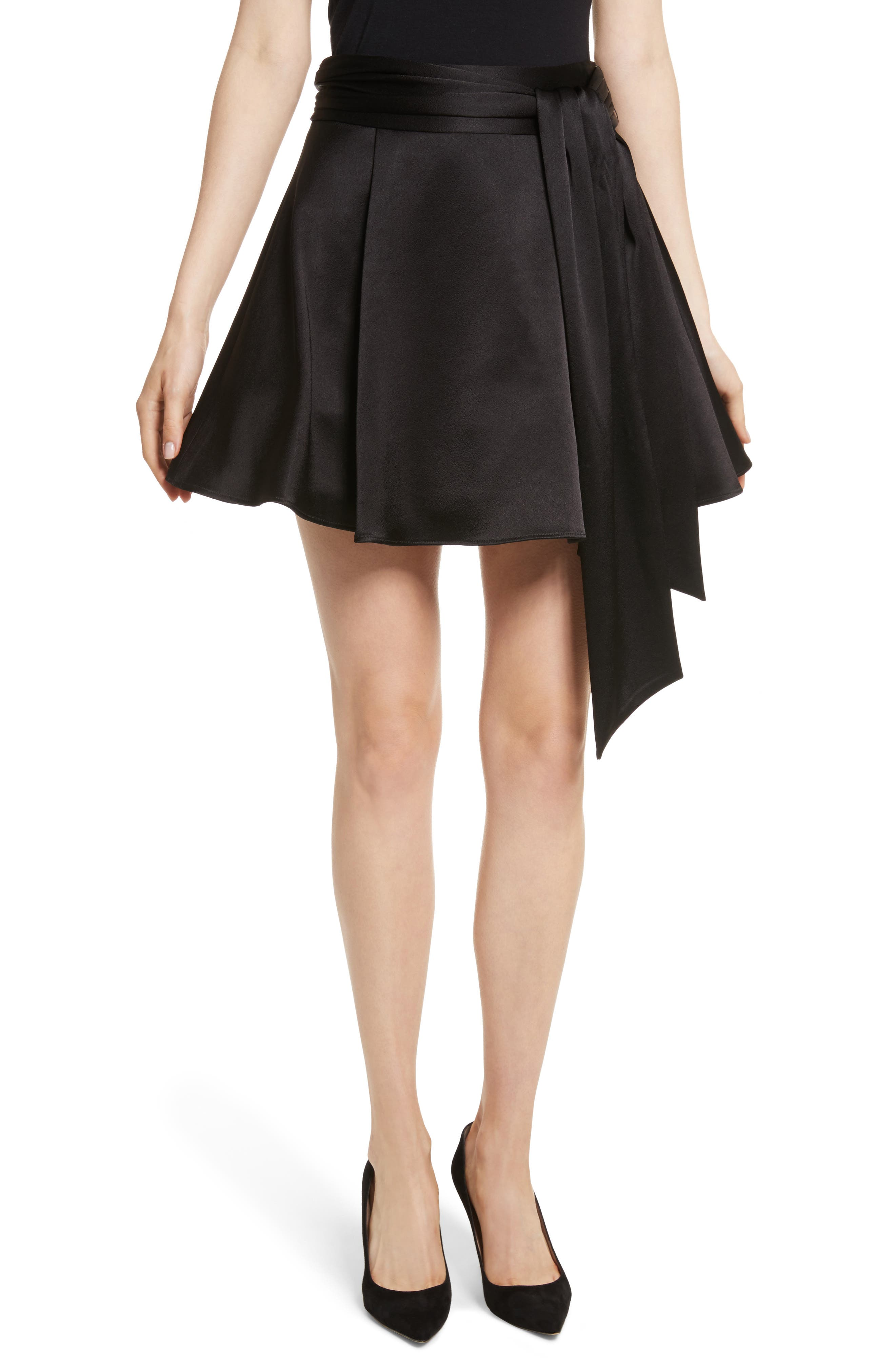 Helina Miniskirt,                         Main,                         color, Black